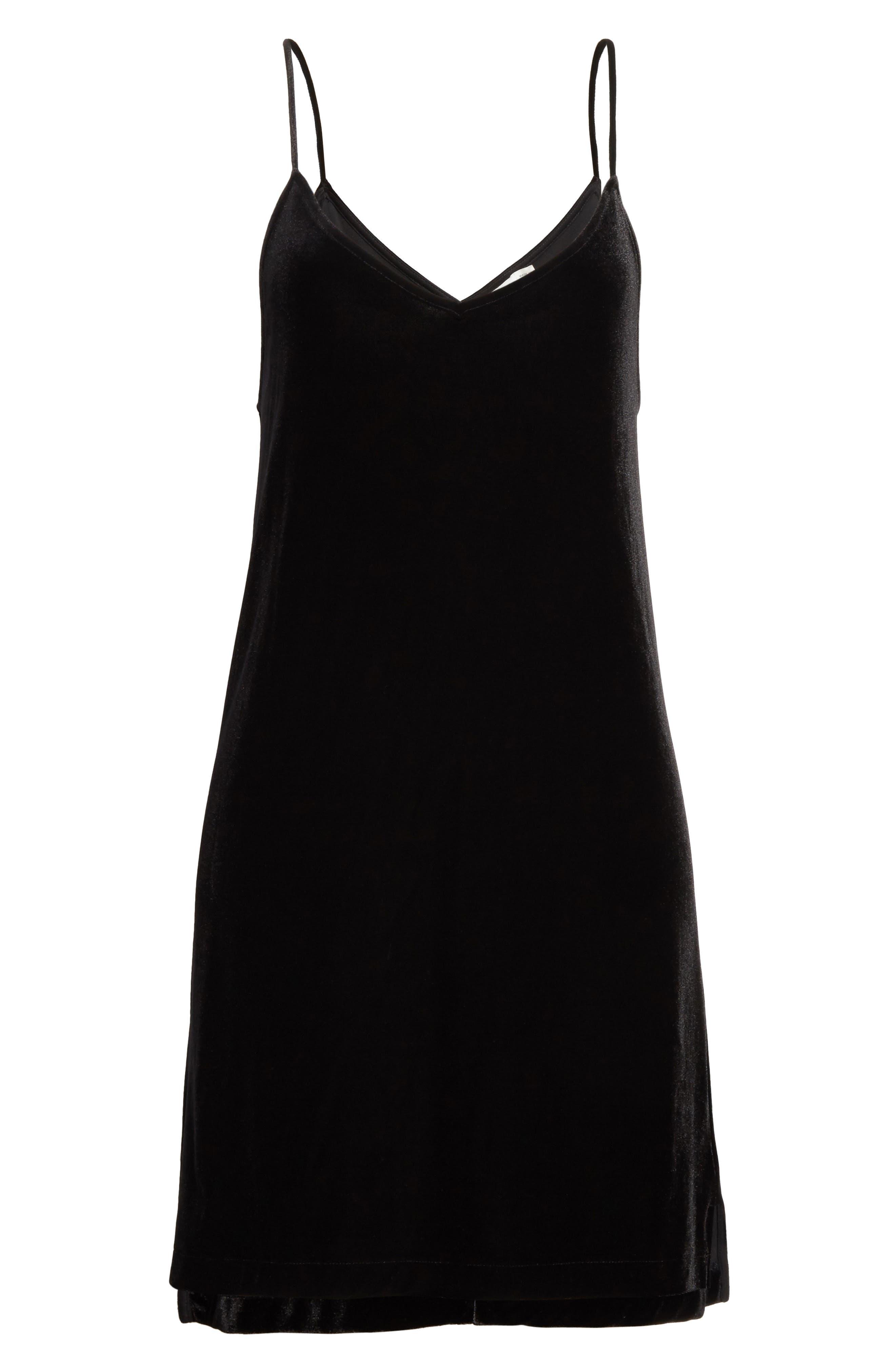 Alternate Image 6  - rag & bone/JEAN Amber Velvet Slipdress