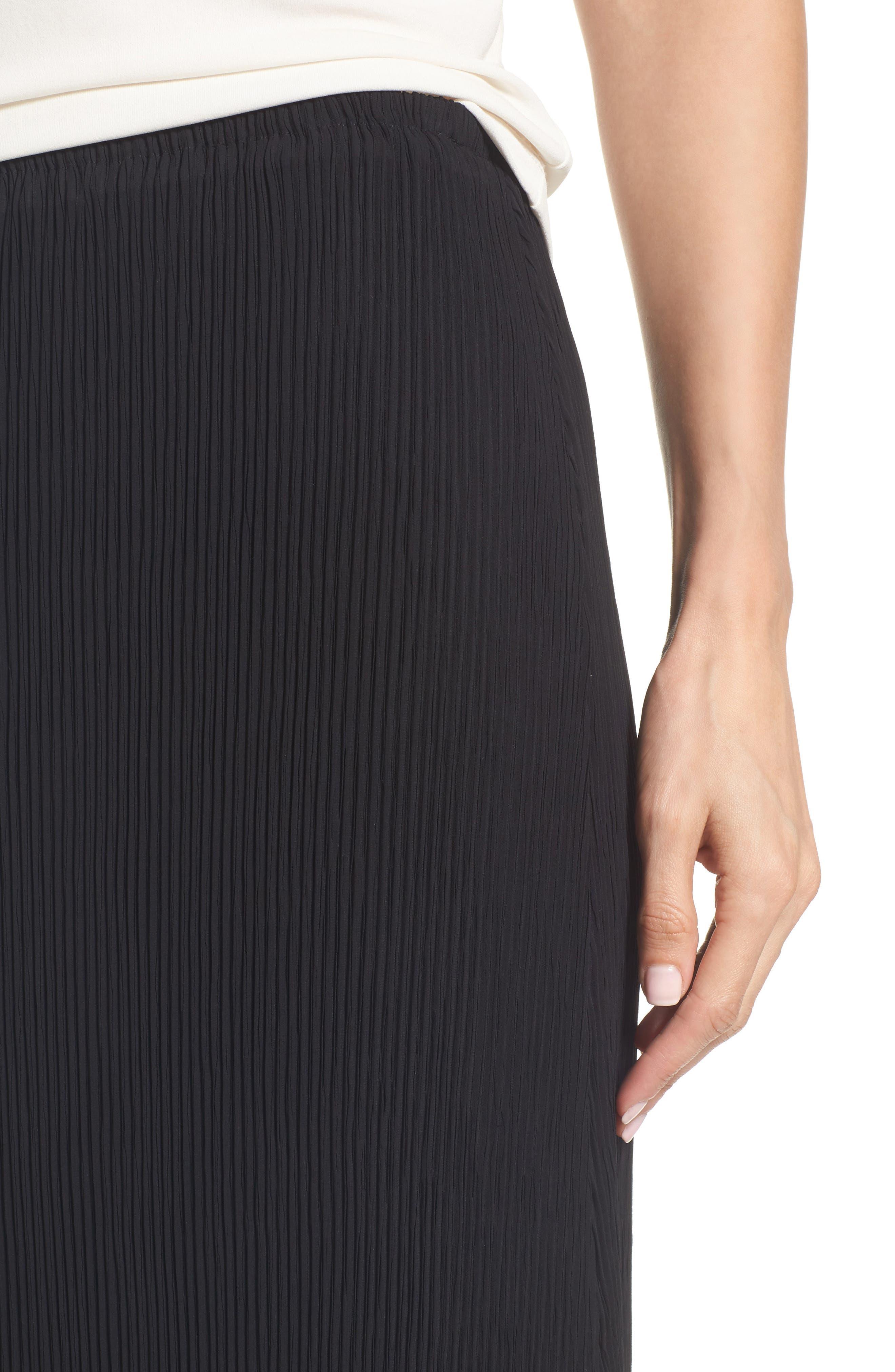 Alternate Image 4  - Eileen Fisher Pleated Midi Skirt