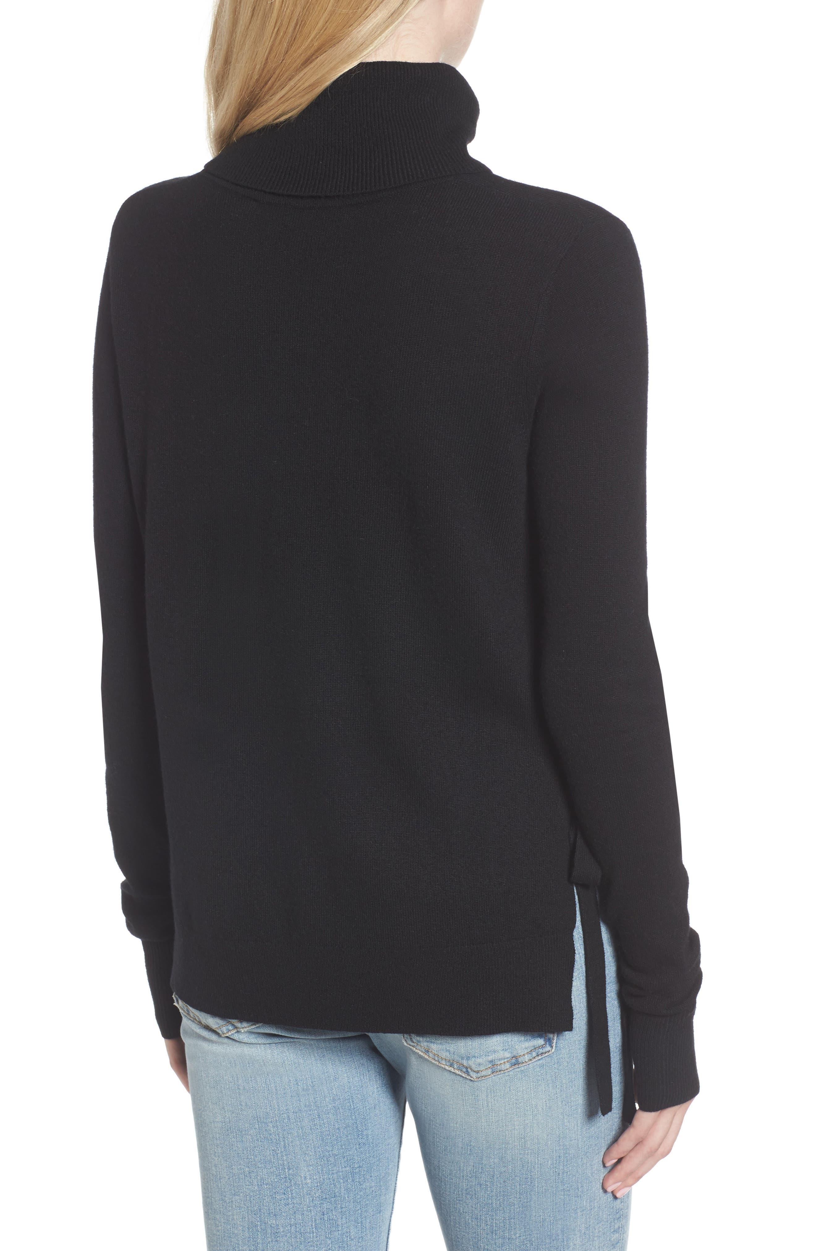 Alternate Image 2  - Pam & Gela Distressed Turtleneck Sweater