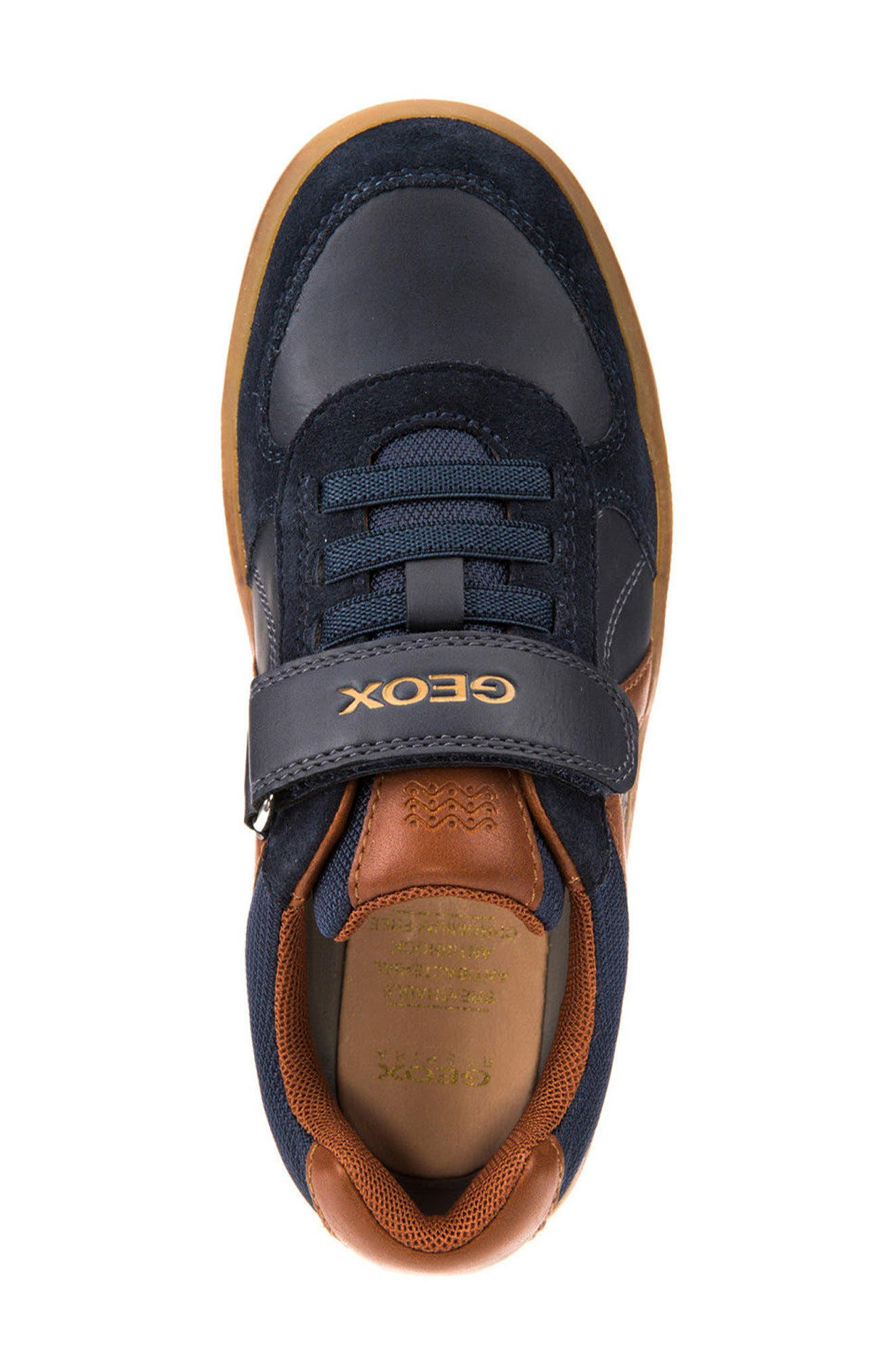 Arzach Low Top Sneaker,                             Alternate thumbnail 5, color,                             Navy/ Brown