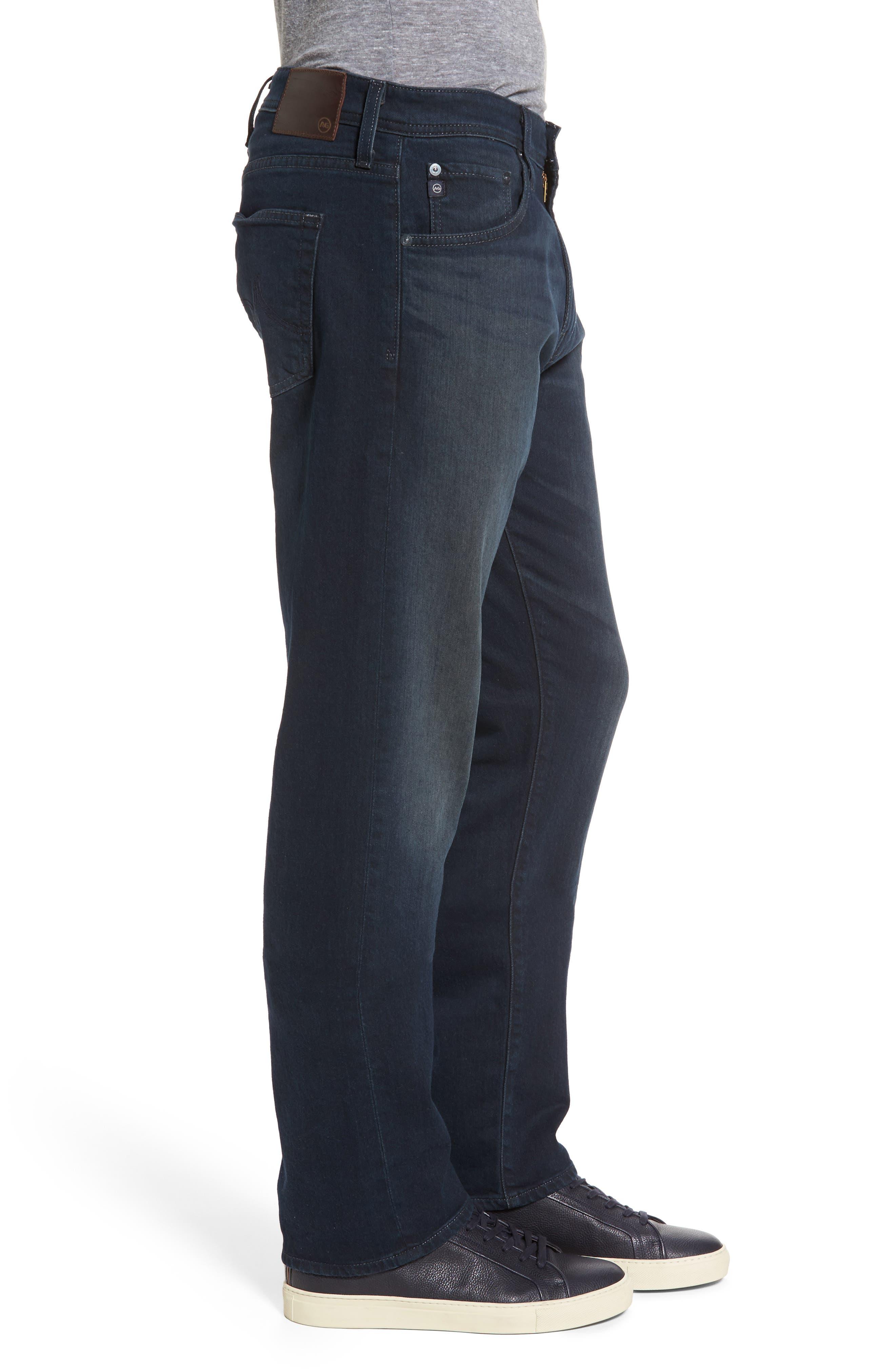 Ives Straight Fit Jeans,                             Alternate thumbnail 3, color,                             Blue Smolder