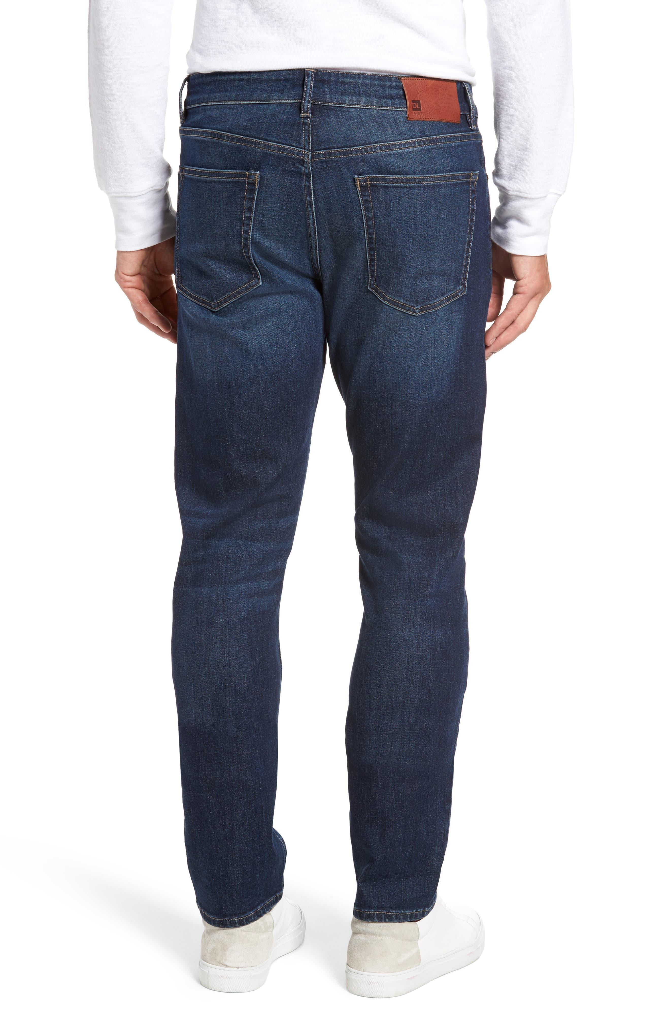 Alternate Image 2  - DL1961 Russell Slim Straight Leg Jeans (Marine)