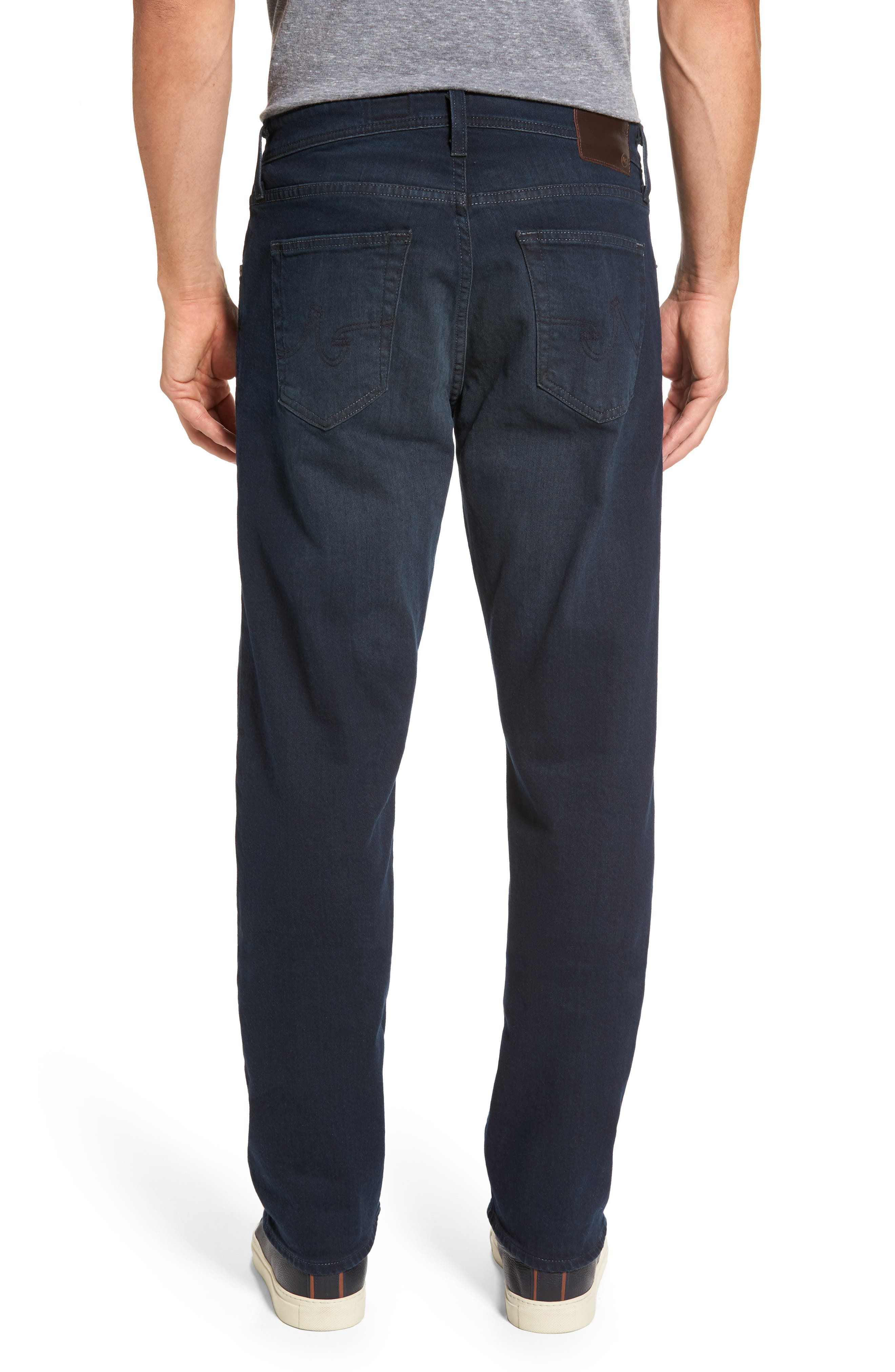 Alternate Image 2  - AG Ives Straight Fit Jeans (Blue Smolder)