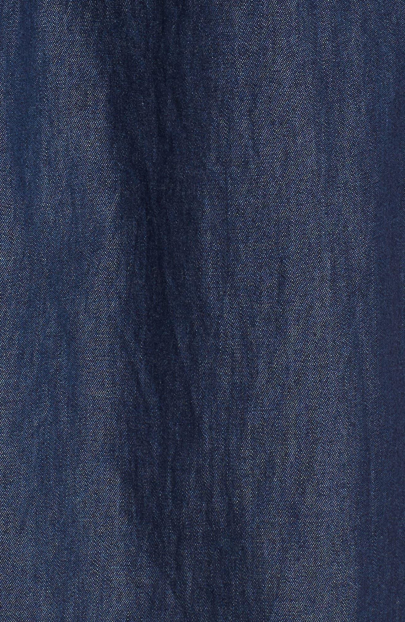Alternate Image 5  - BP. Off the Shoulder Denim Dress