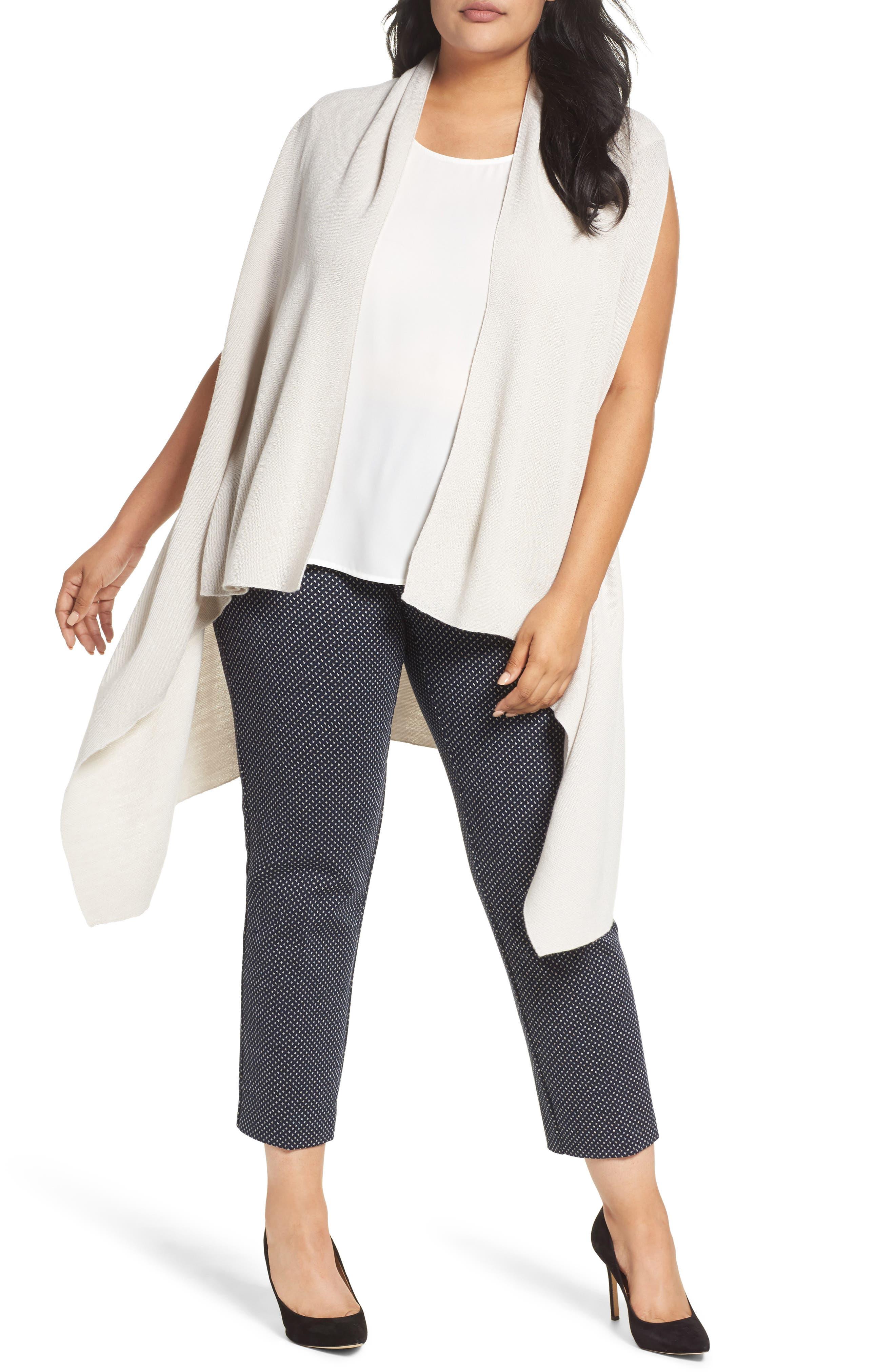 Wool Blend Knit Vest,                         Main,                         color, Light Grey
