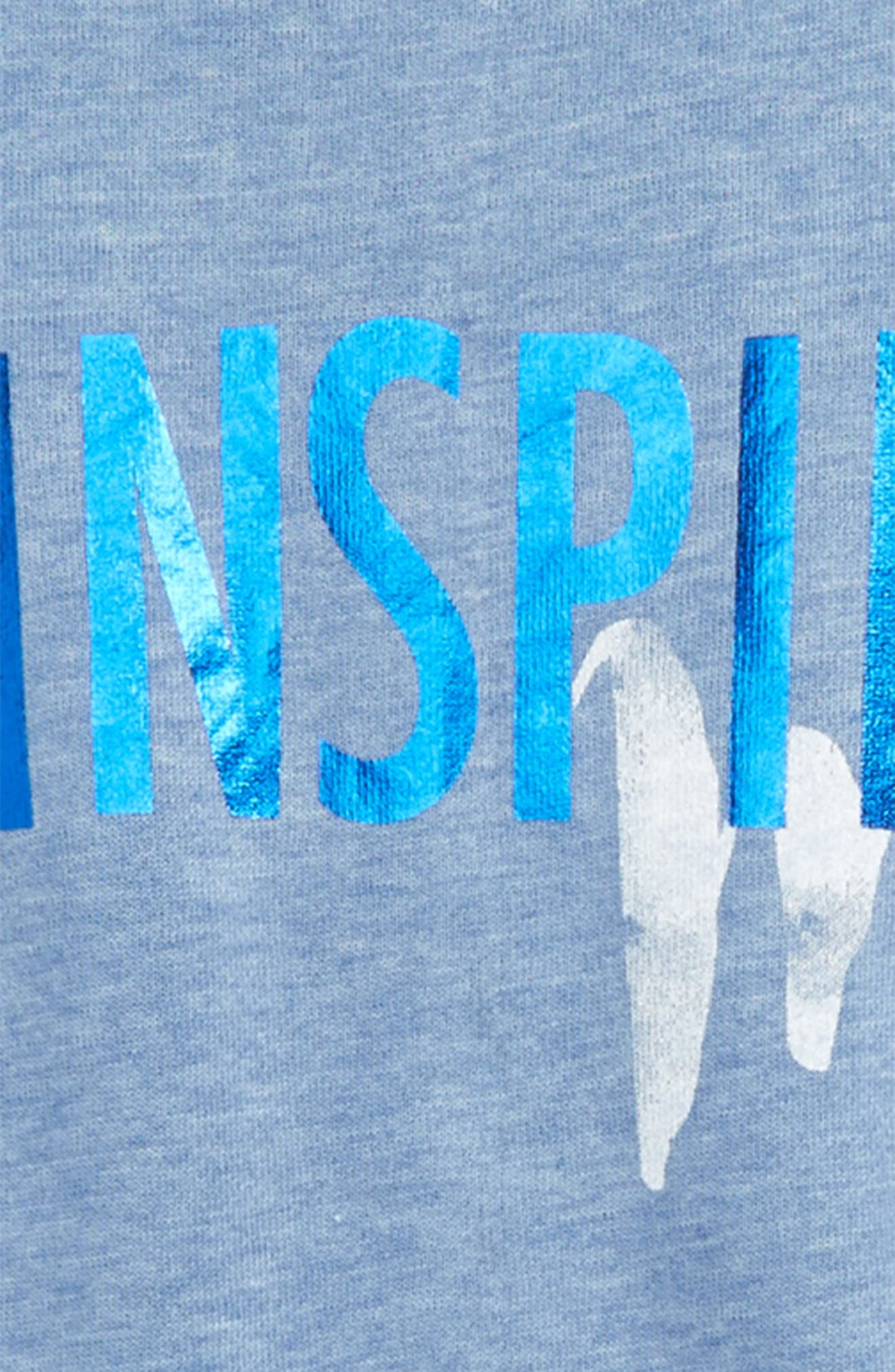 Alternate Image 2  - C & C California Inspire Me Sweatshirt Tee (Big Girls)
