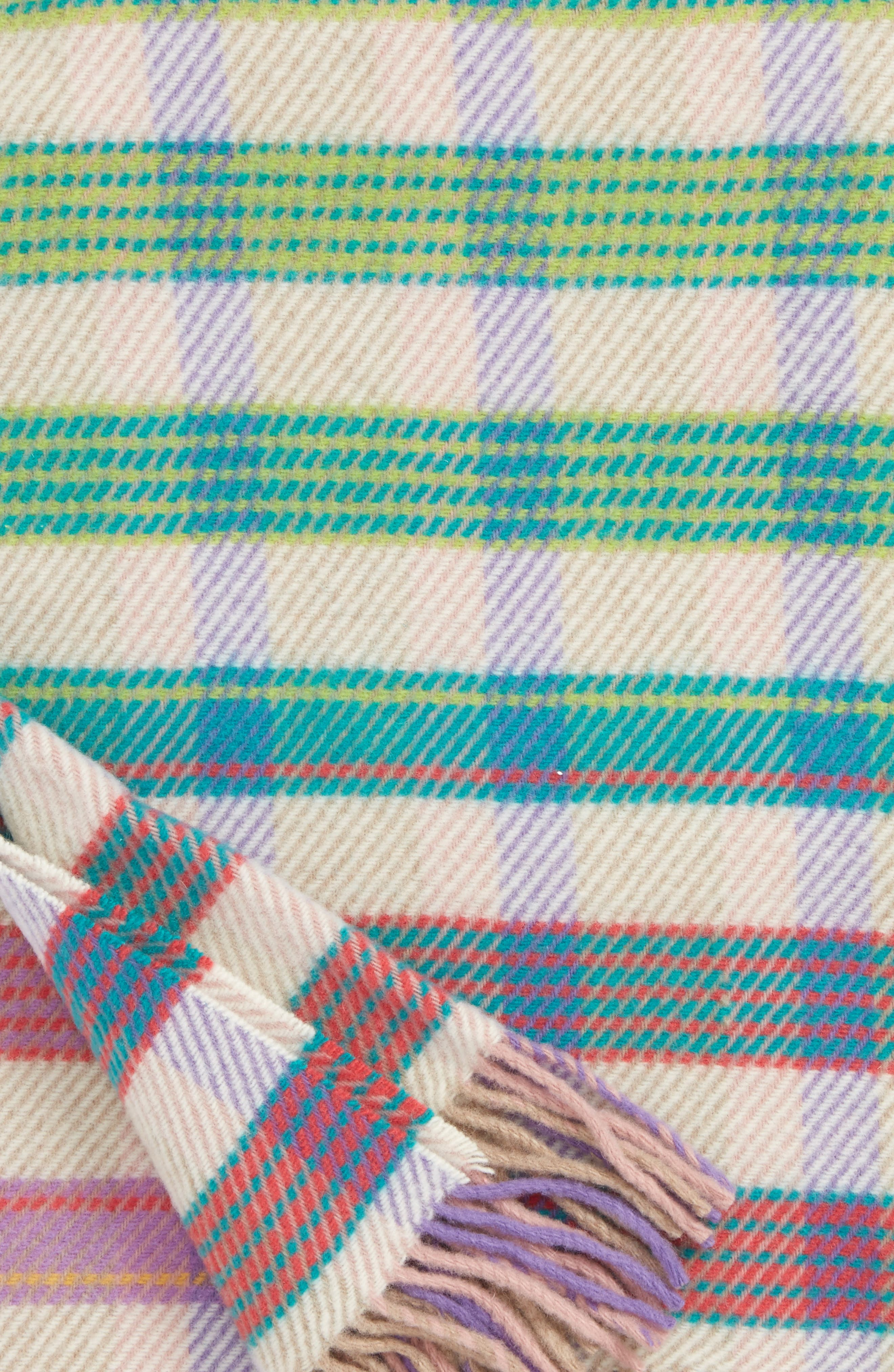Tiziano Wool Throw Blanket,                             Alternate thumbnail 3, color,                             Multi Color