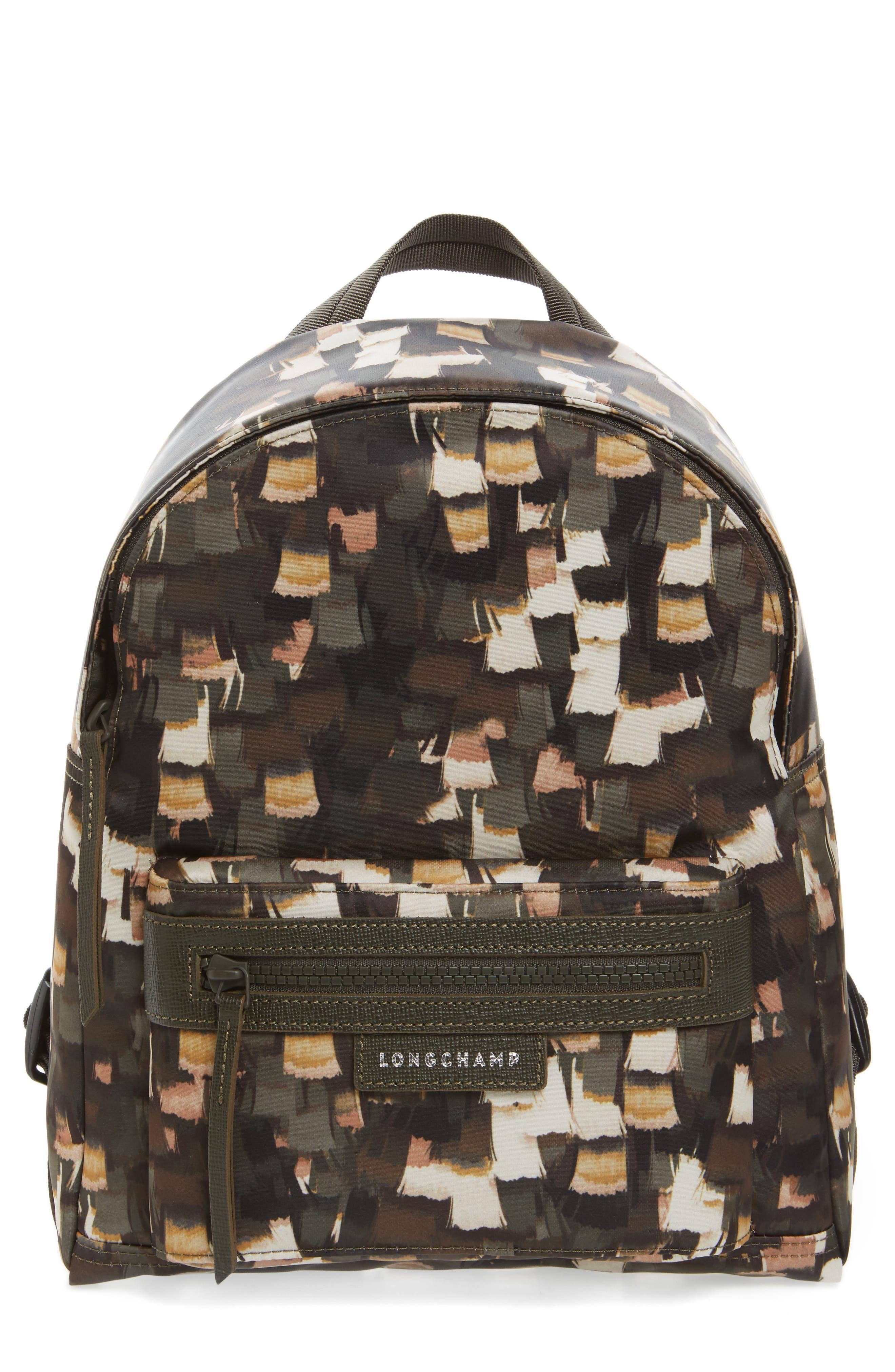 Le Pliage Neo - Vibrations Nylon Backpack,                         Main,                         color, Khaki
