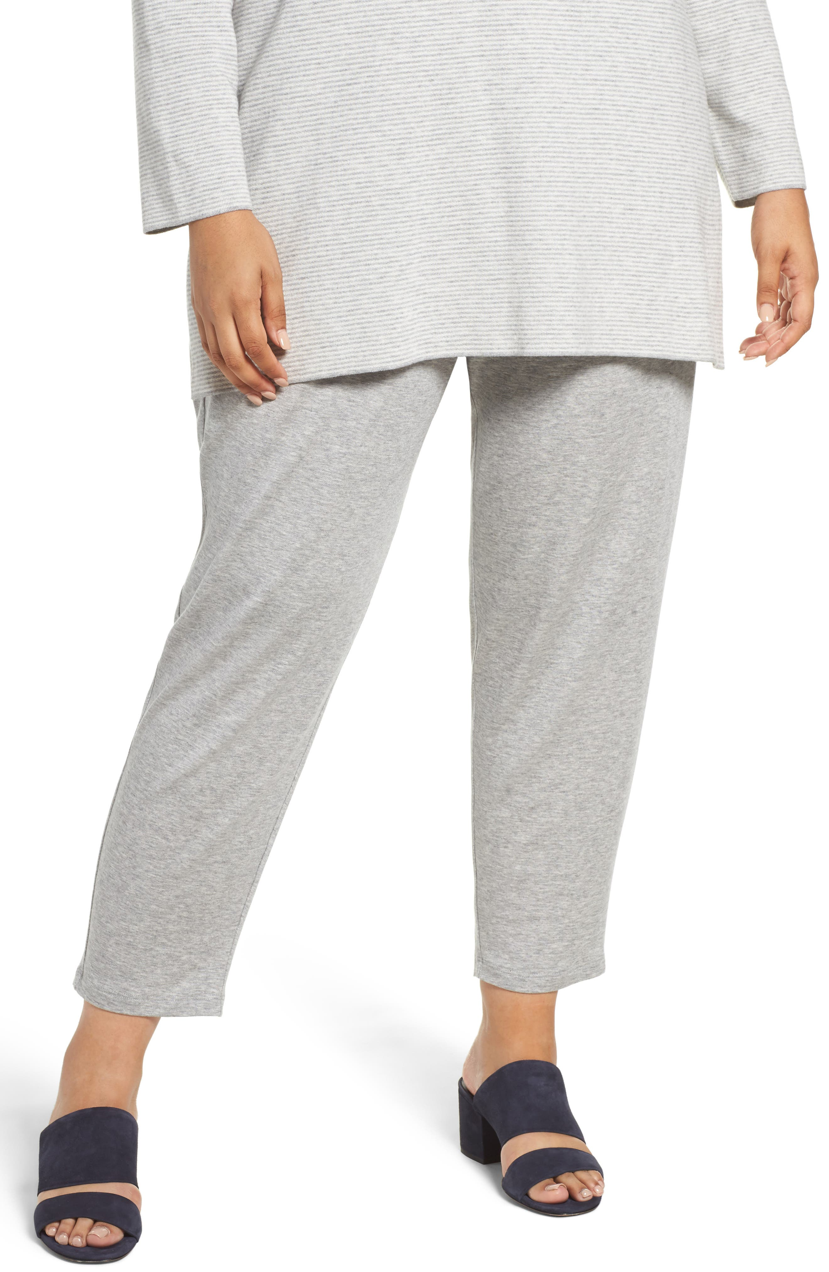 Alternate Image 1 Selected - Eileen Fisher Drawstring Ankle Pants (Plus Size)