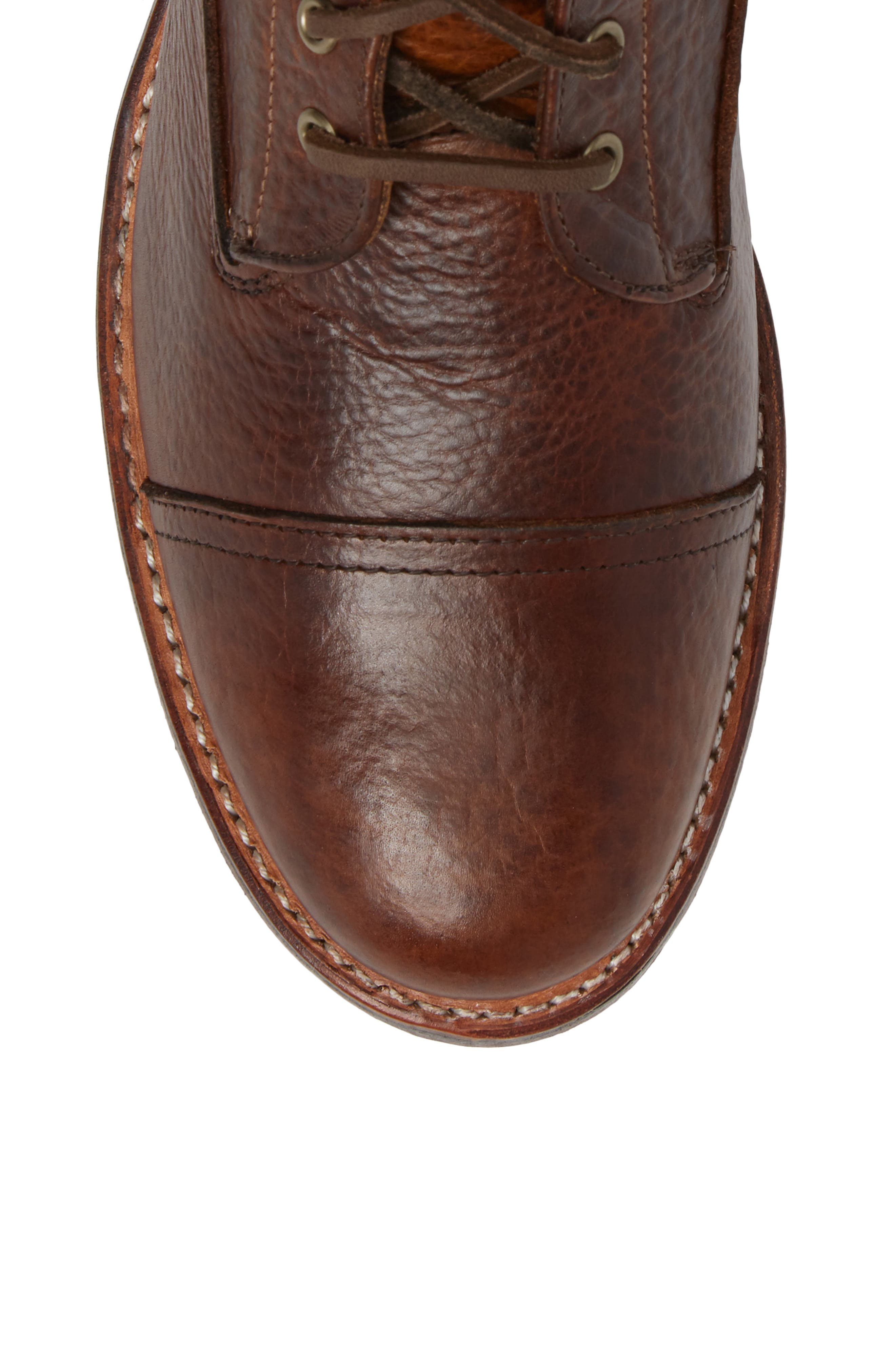 Ariat Highlands Cap Toe Boot,                             Alternate thumbnail 5, color,                             Whiskey Bourbon Leather