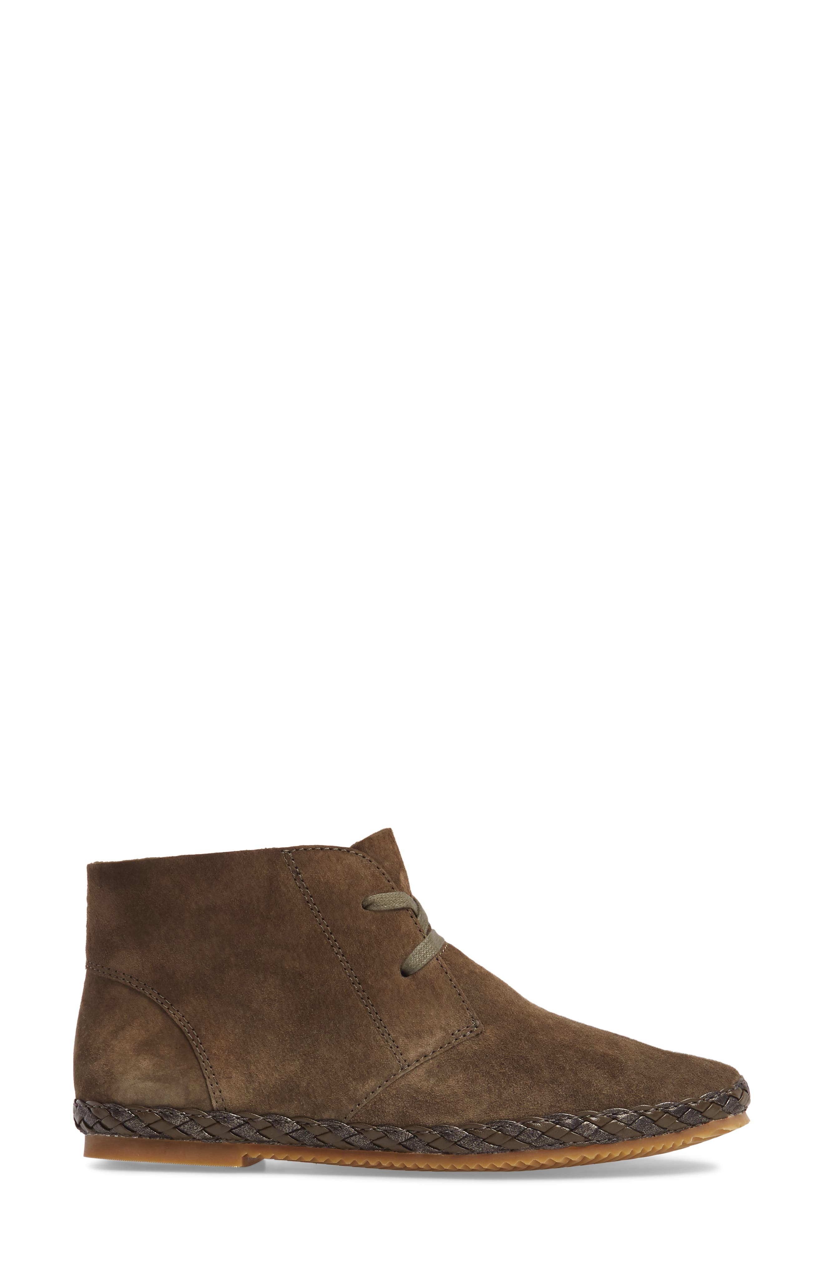 Addison Bootie,                             Alternate thumbnail 3, color,                             Olive Suede