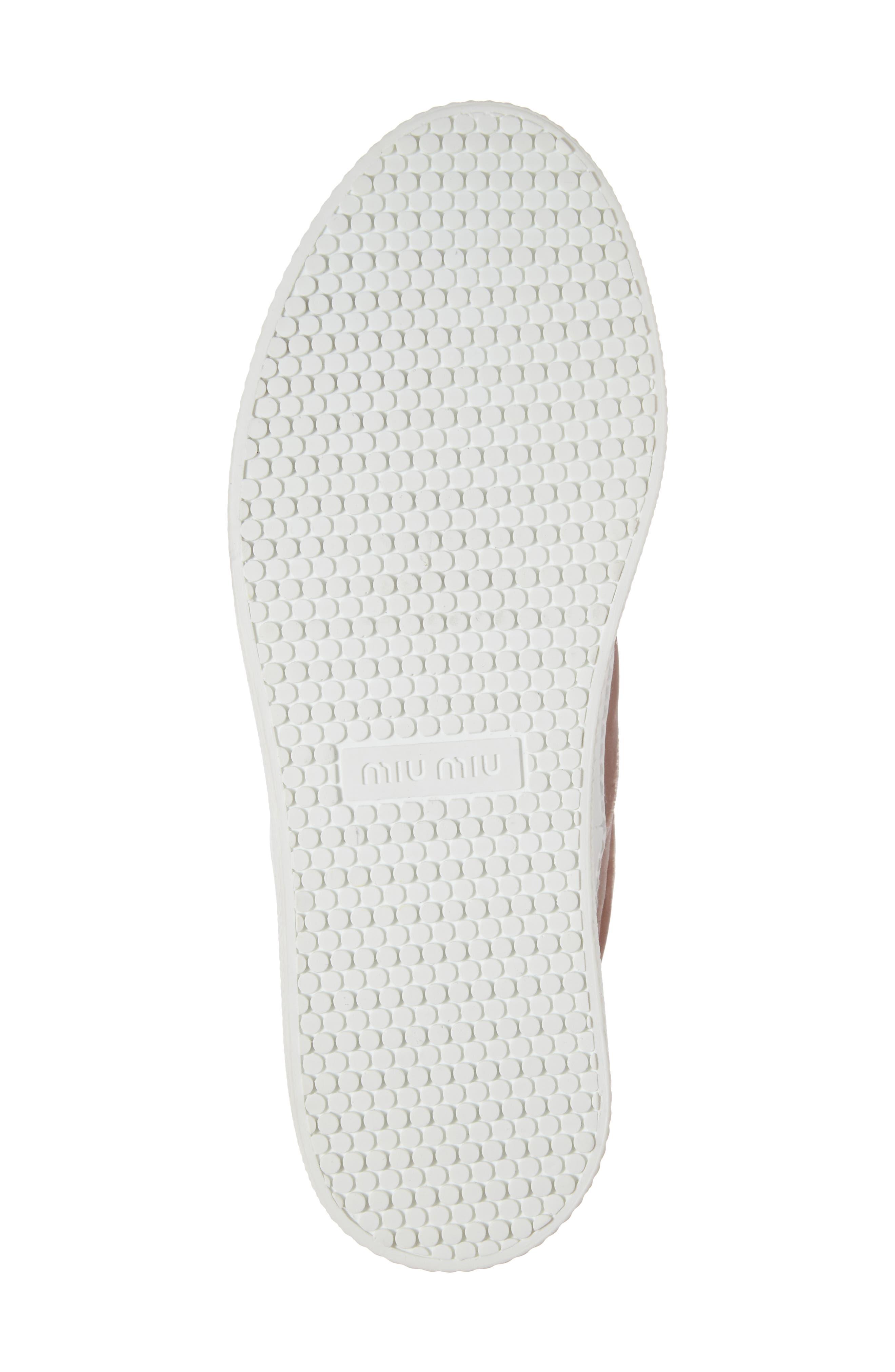 Alternate Image 6  - Miu Miu Embellished Flatform Sneaker (Women)