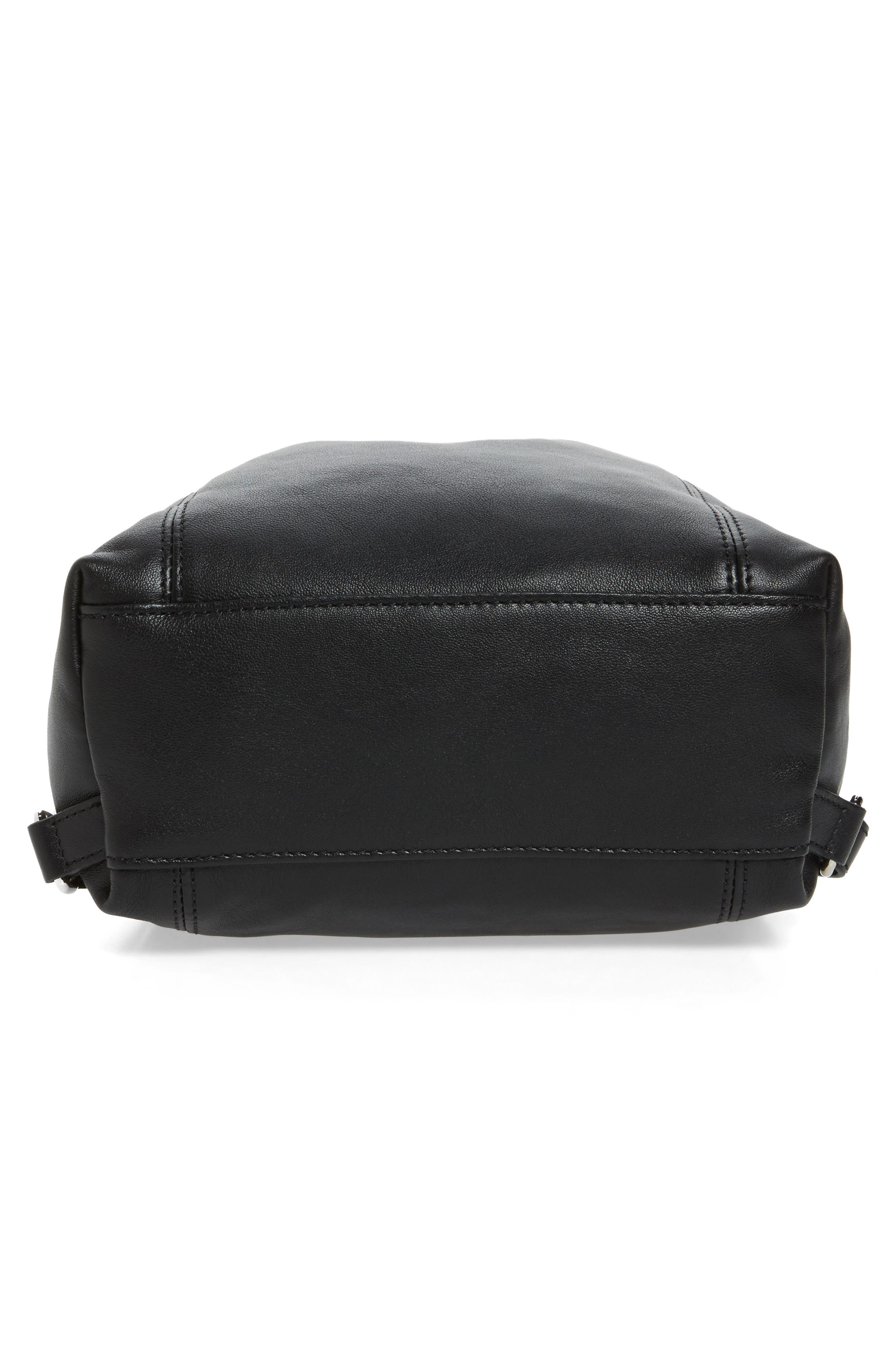 Extra Small Le Pliage Cuir Backpack,                             Alternate thumbnail 4, color,                             Black