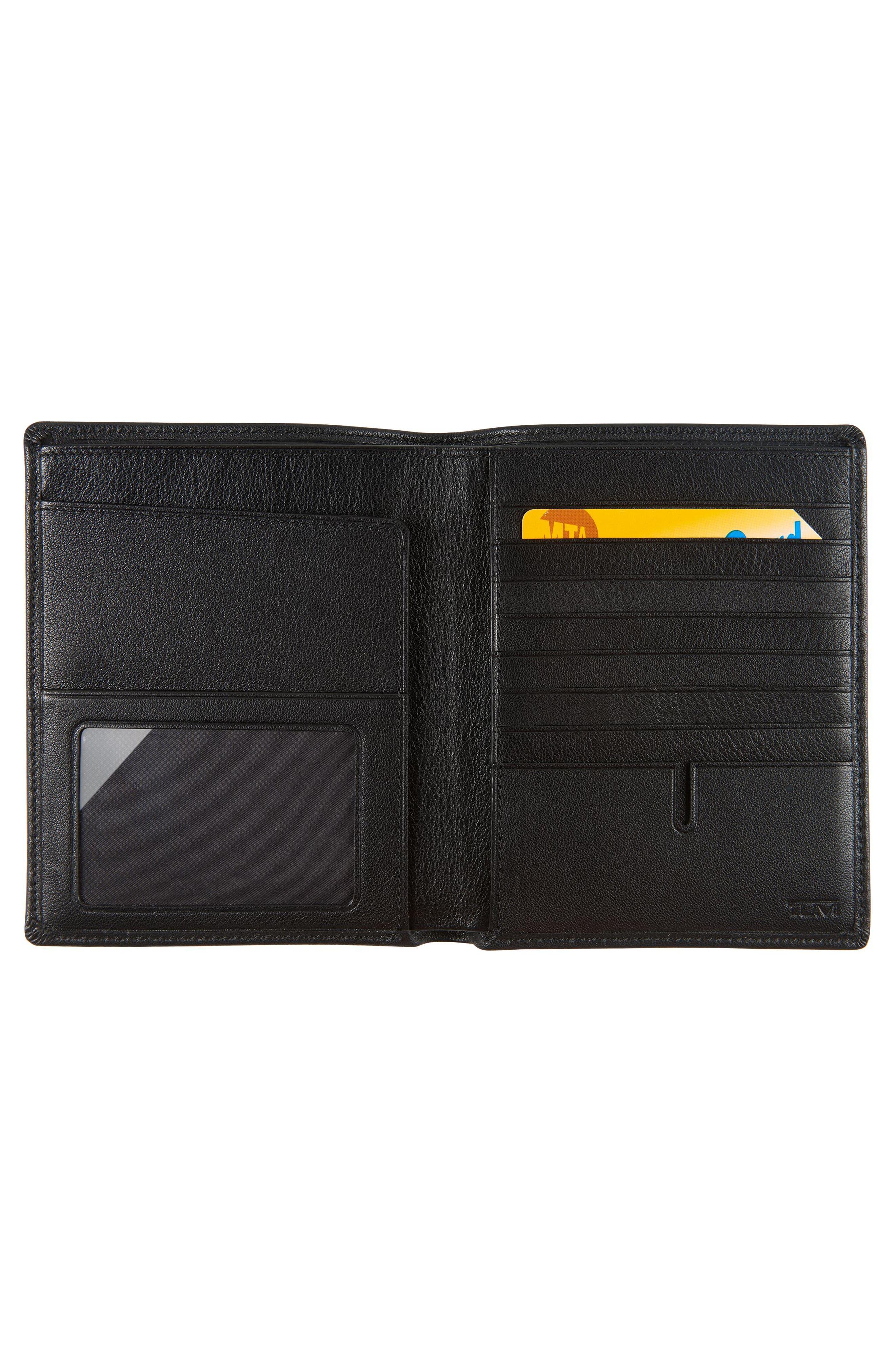 Leather Passport Case,                             Alternate thumbnail 2, color,                             Black Textured