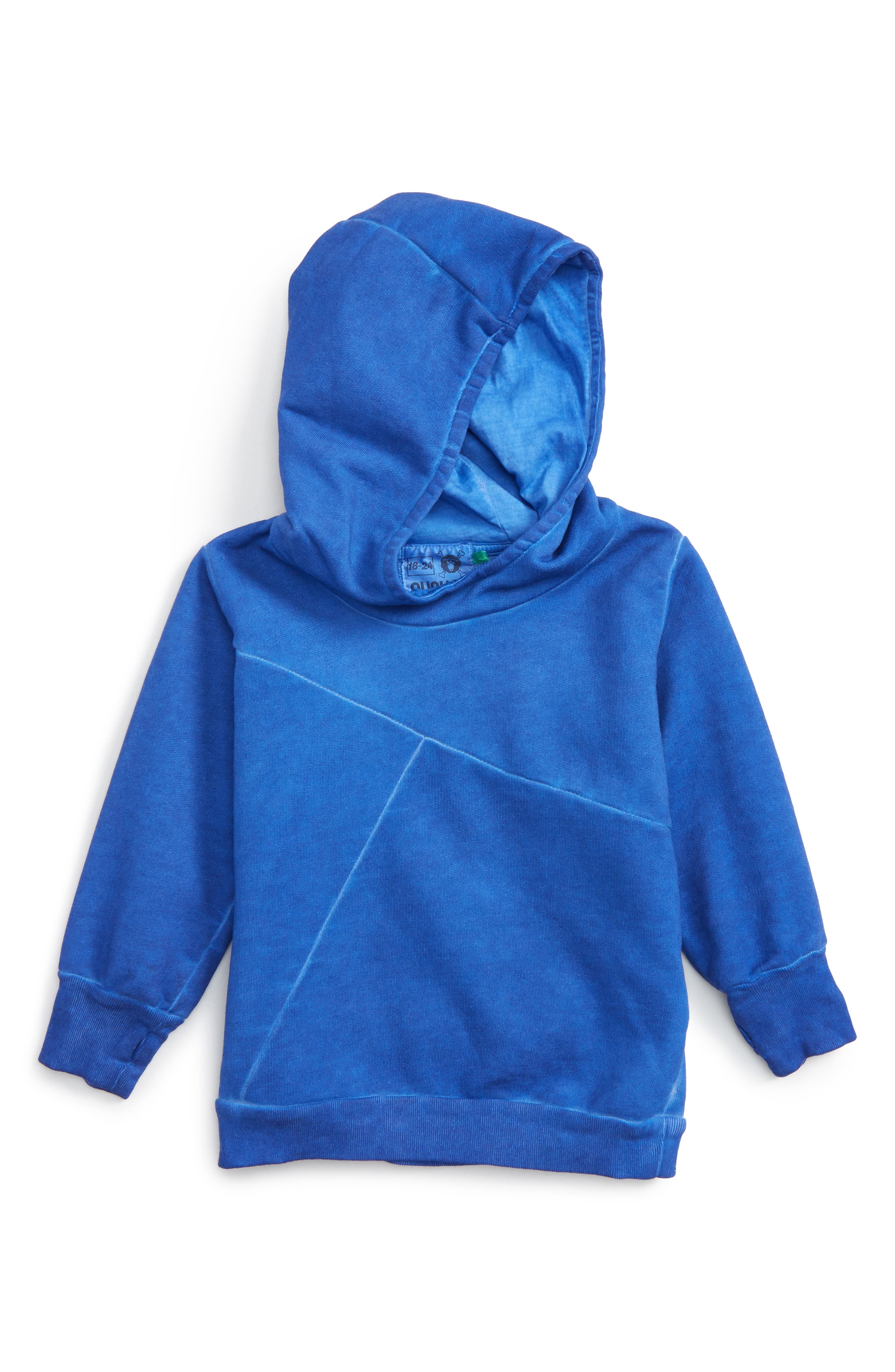 Numbered Hoodie,                         Main,                         color, Dirty Blue