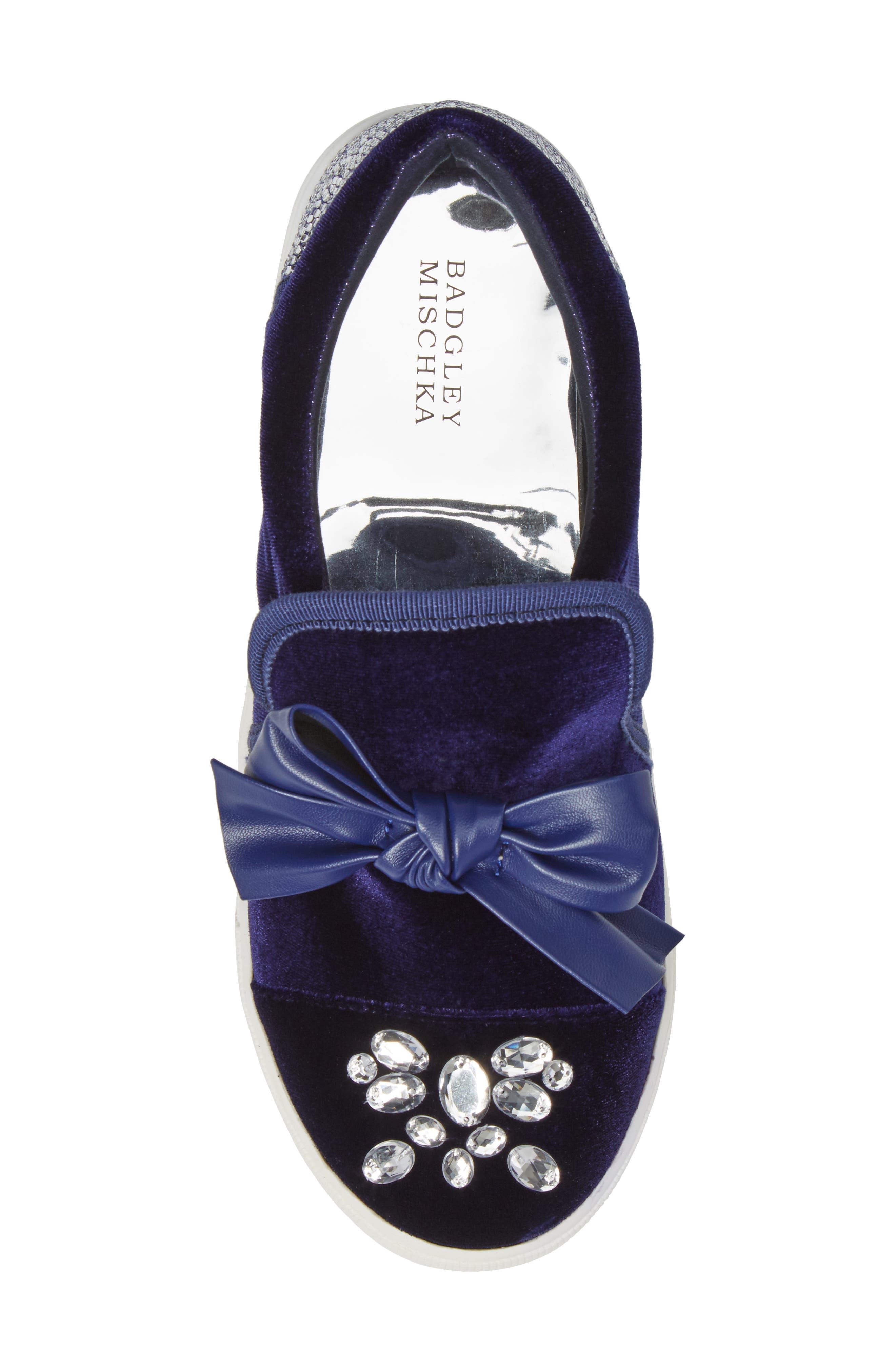 Alternate Image 5  - Badgley Mischka Delight Embellished Slip-On Sneaker (Toddler, Little Kid & Big Kid)