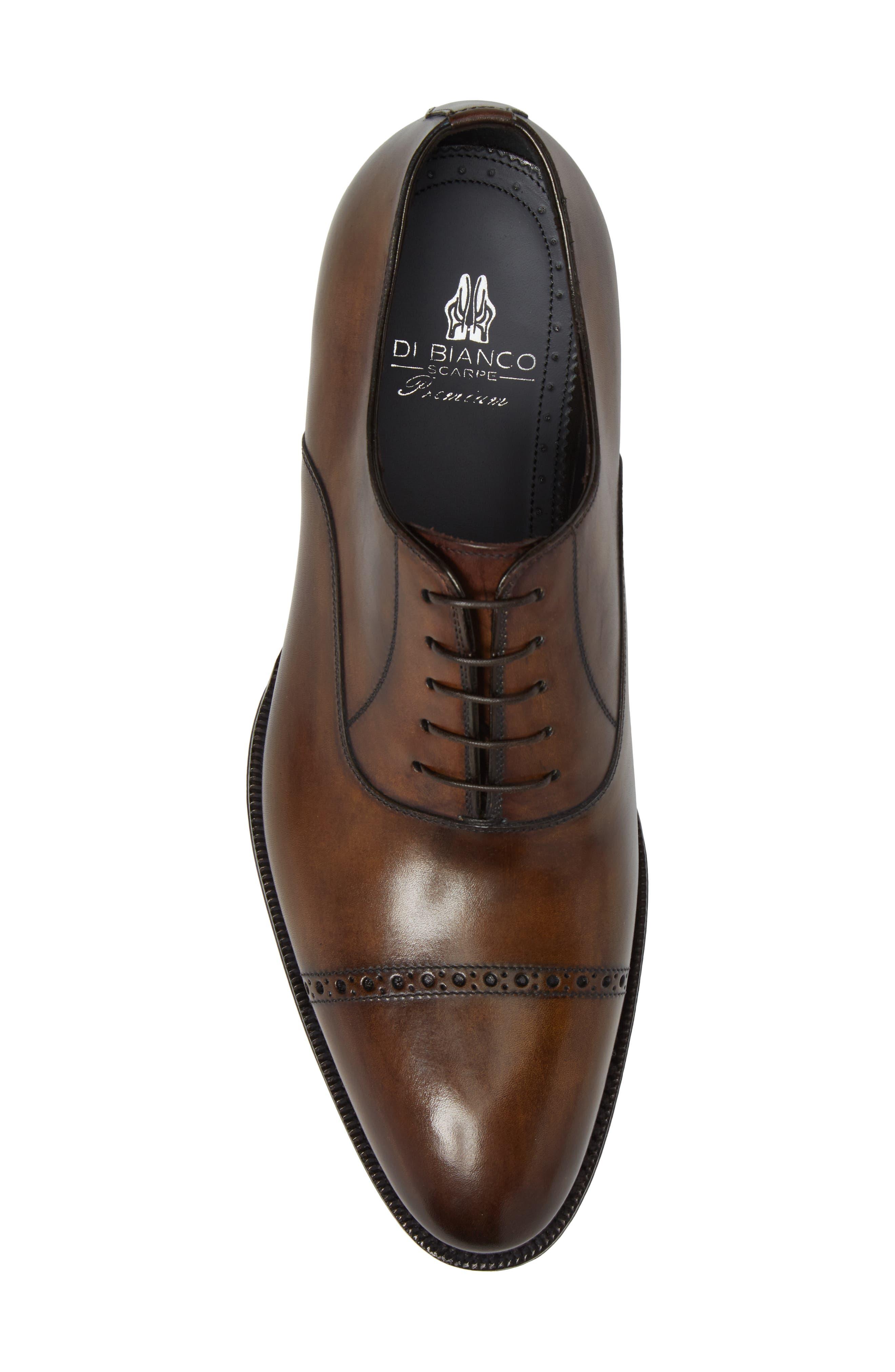 DiGallo Bianco Cap Toe Oxford,                             Alternate thumbnail 5, color,                             Zenzero Leather
