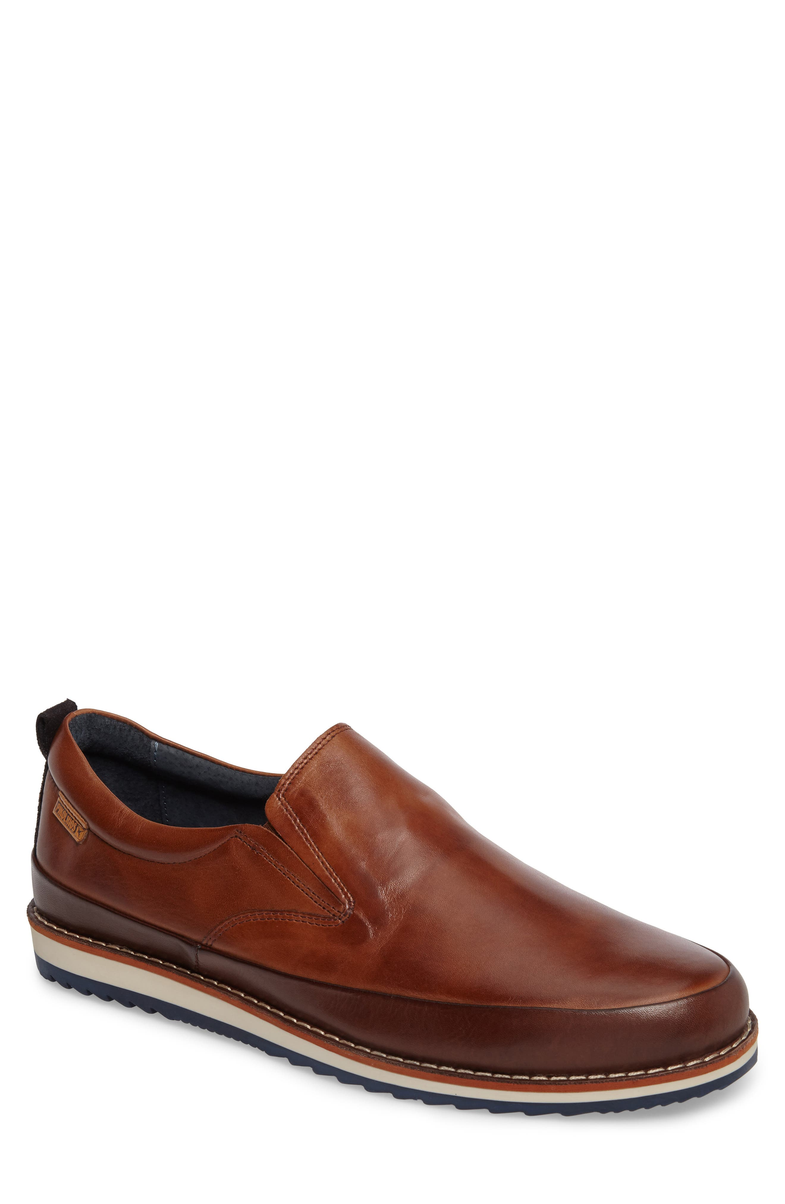Biarritz Slip-On,                             Main thumbnail 1, color,                             Brown Leather