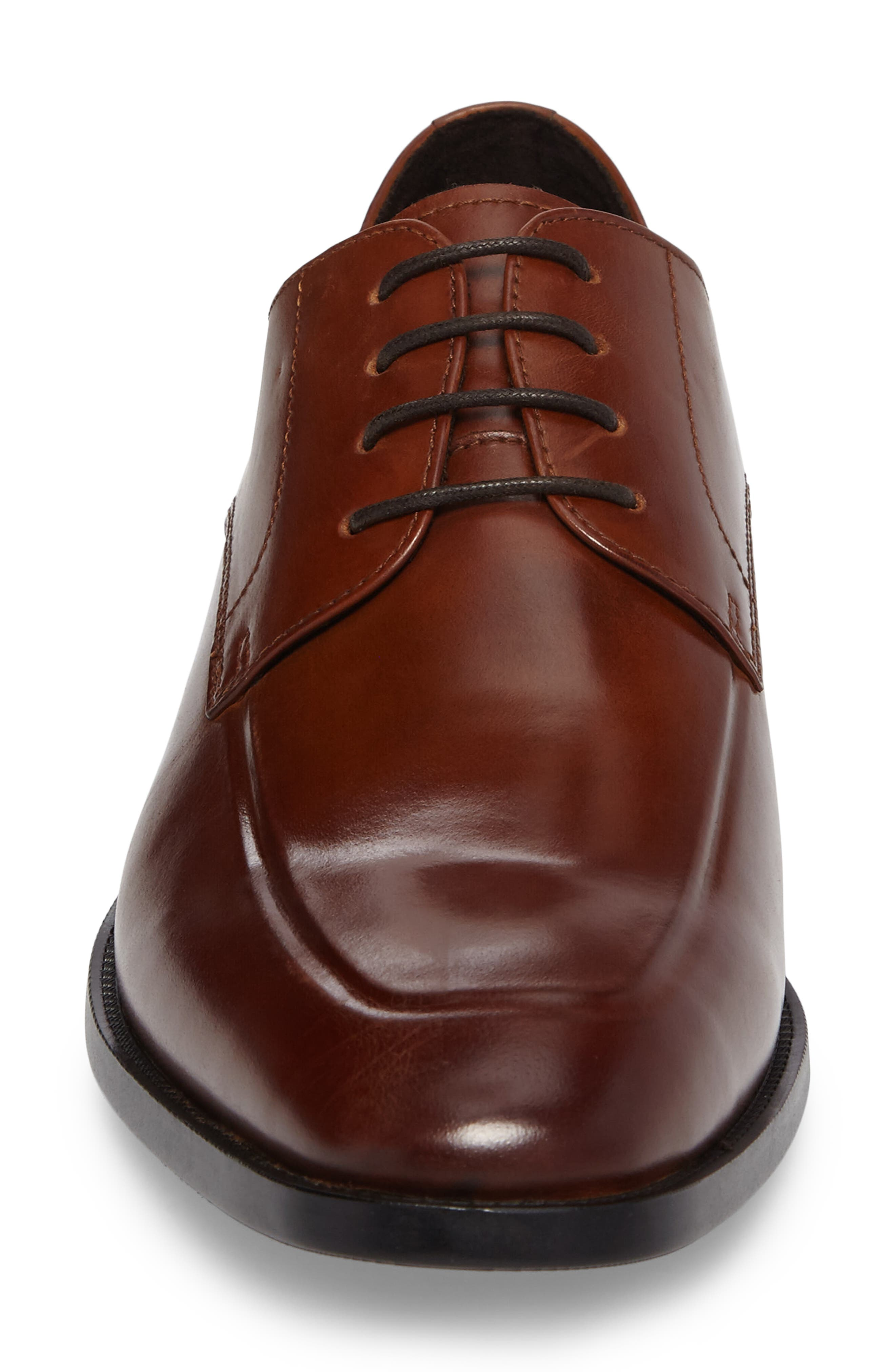 Apron Toe Derby,                             Alternate thumbnail 4, color,                             Brandy Leather