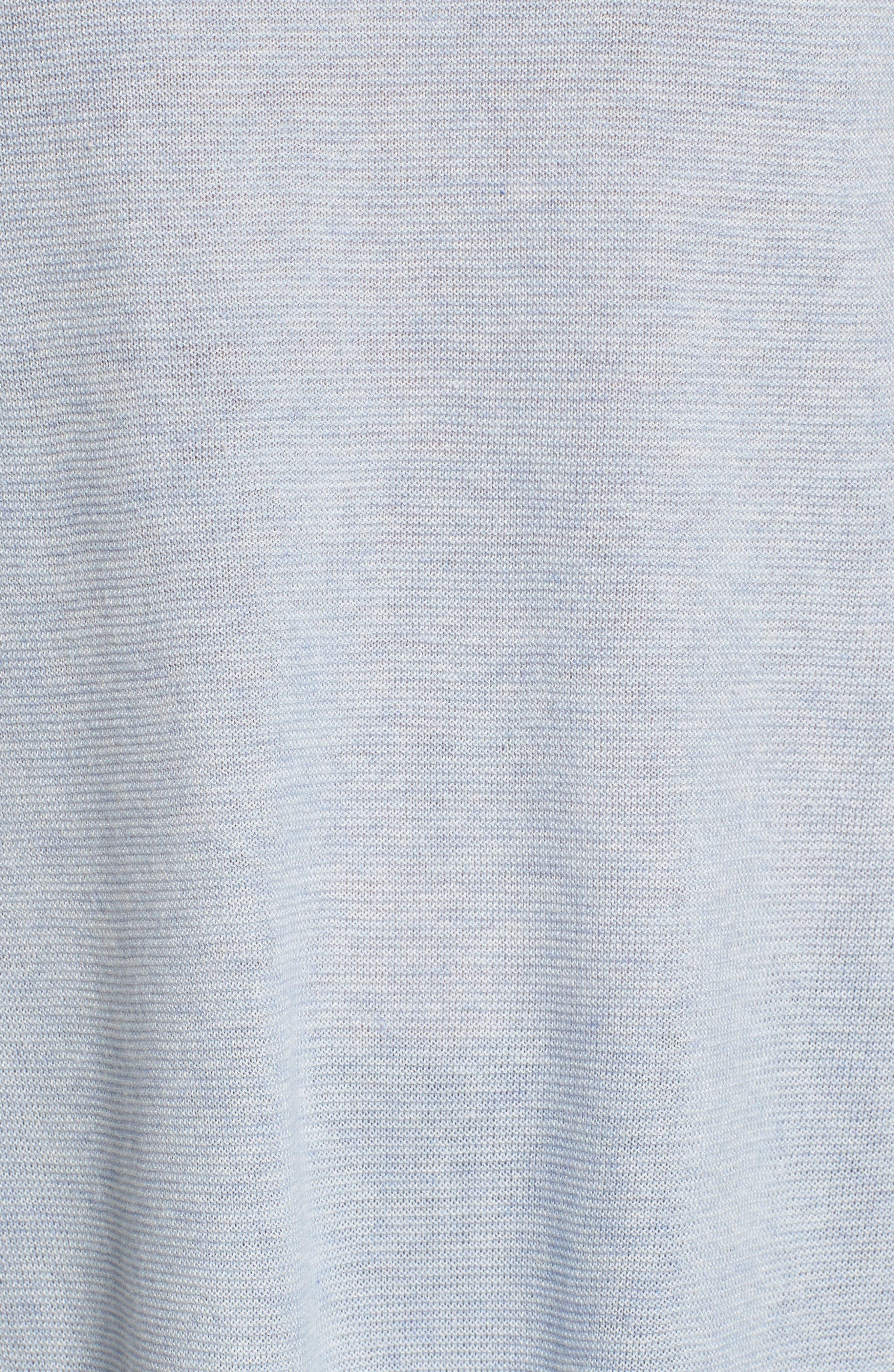 Jewel Neck Tunic Sweater,                             Alternate thumbnail 5, color,                             Delphine