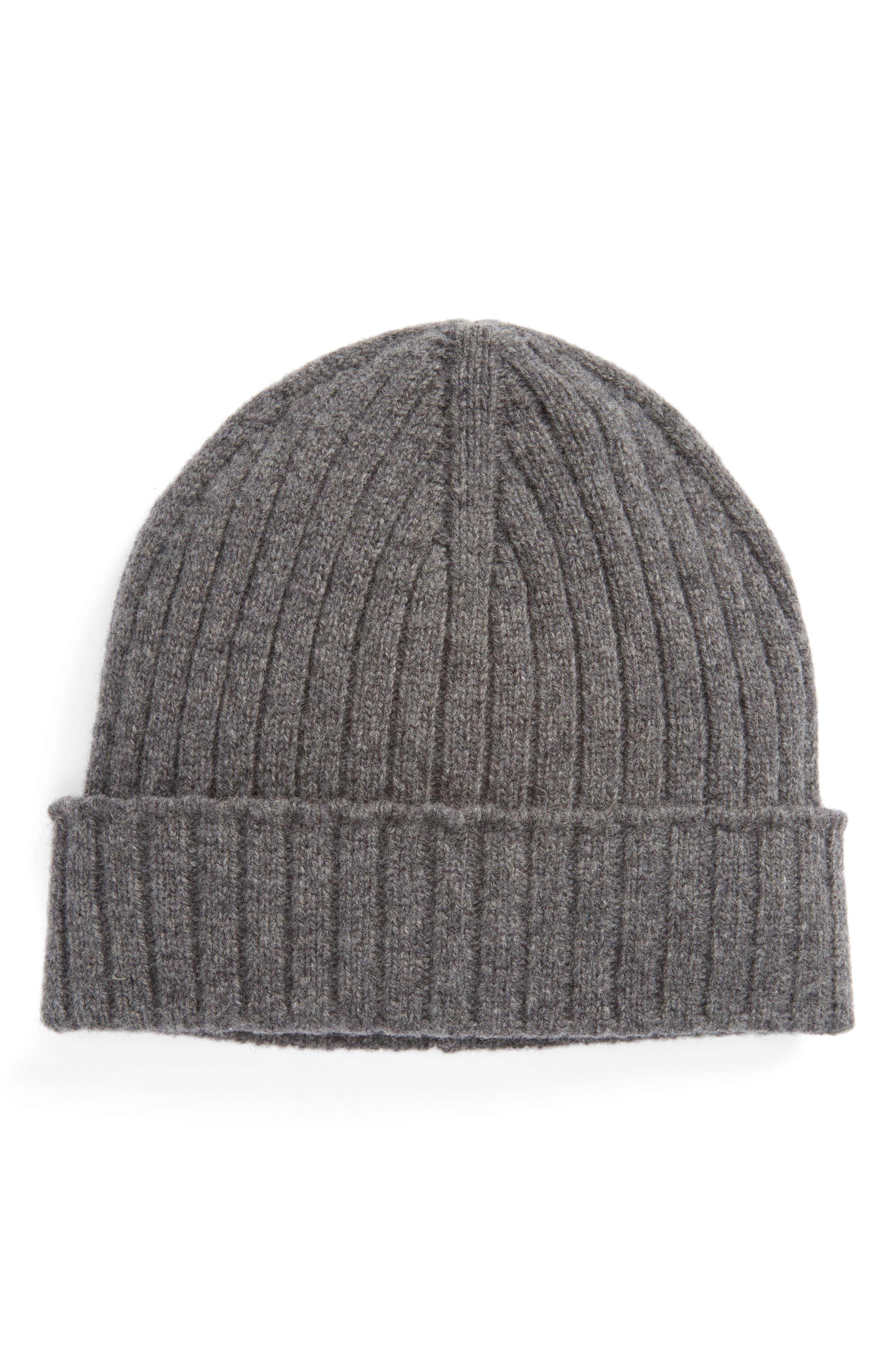 Wool Knit Cap,                         Main,                         color, Gris Chine