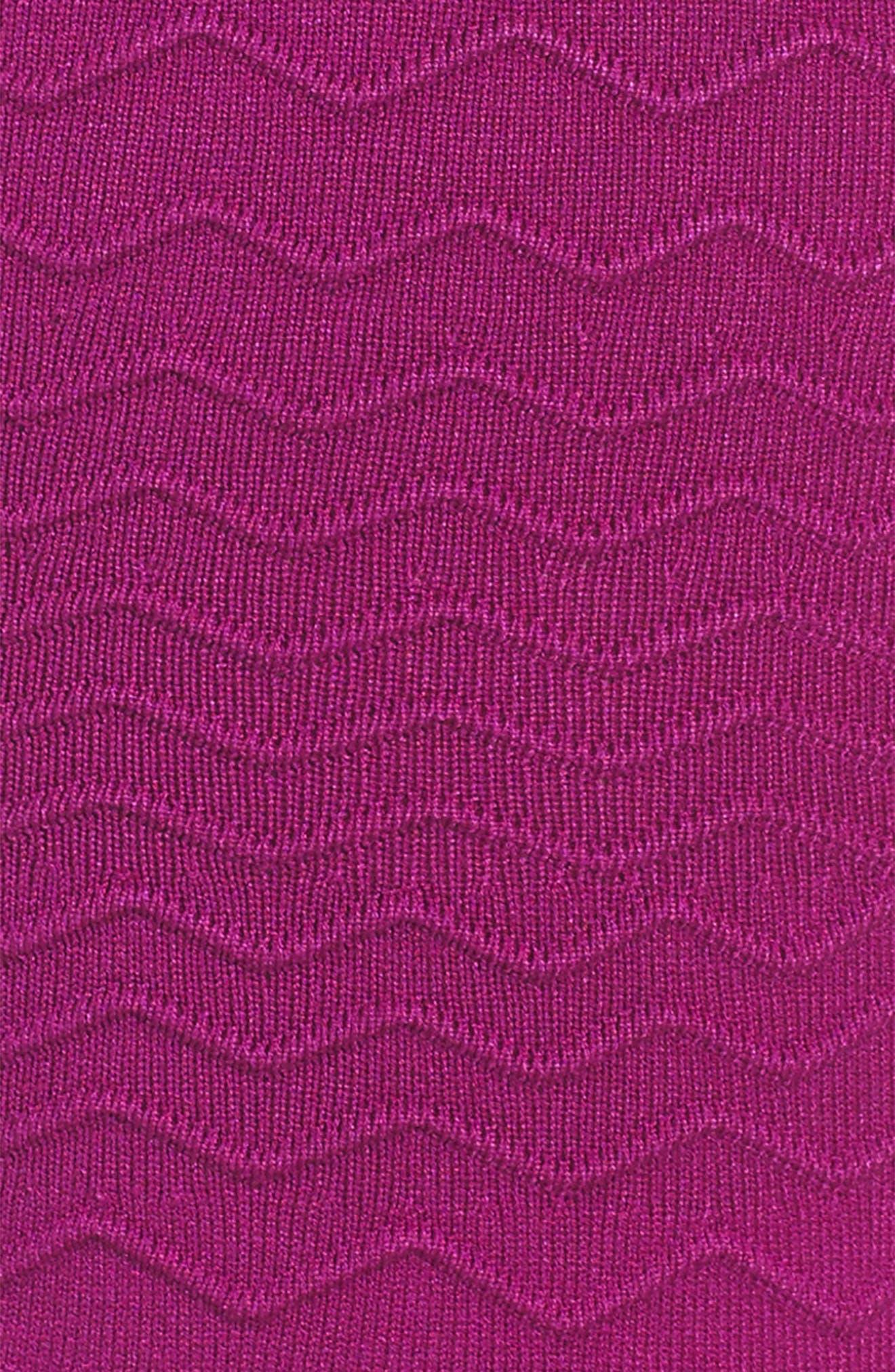 Chevron Ottoman Fit & Flare Dress,                             Alternate thumbnail 3, color,                             Amethyst