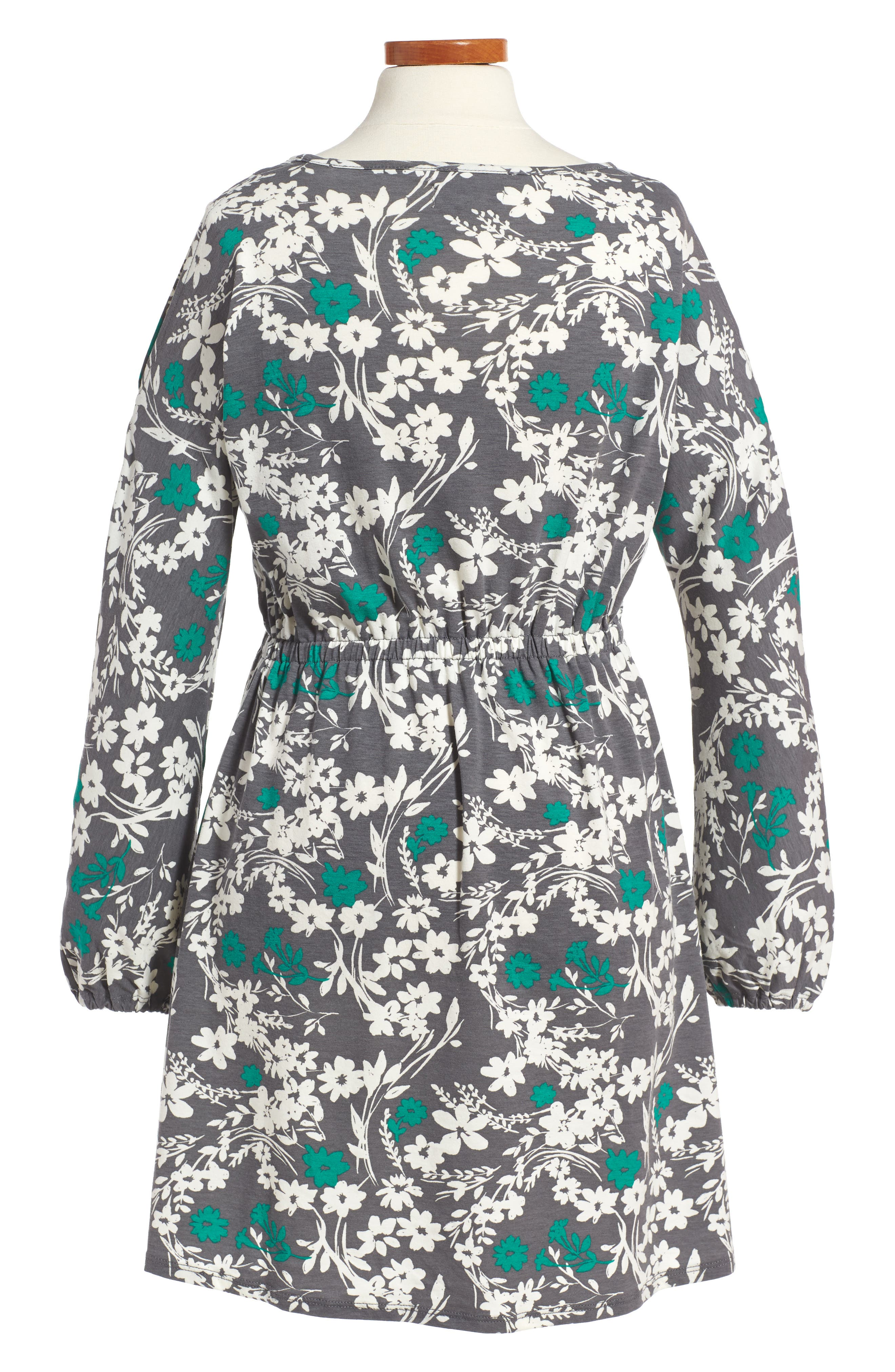 Cold Shoulder Print Dress,                             Alternate thumbnail 2, color,                             Grey Castlerock Shadow Floral
