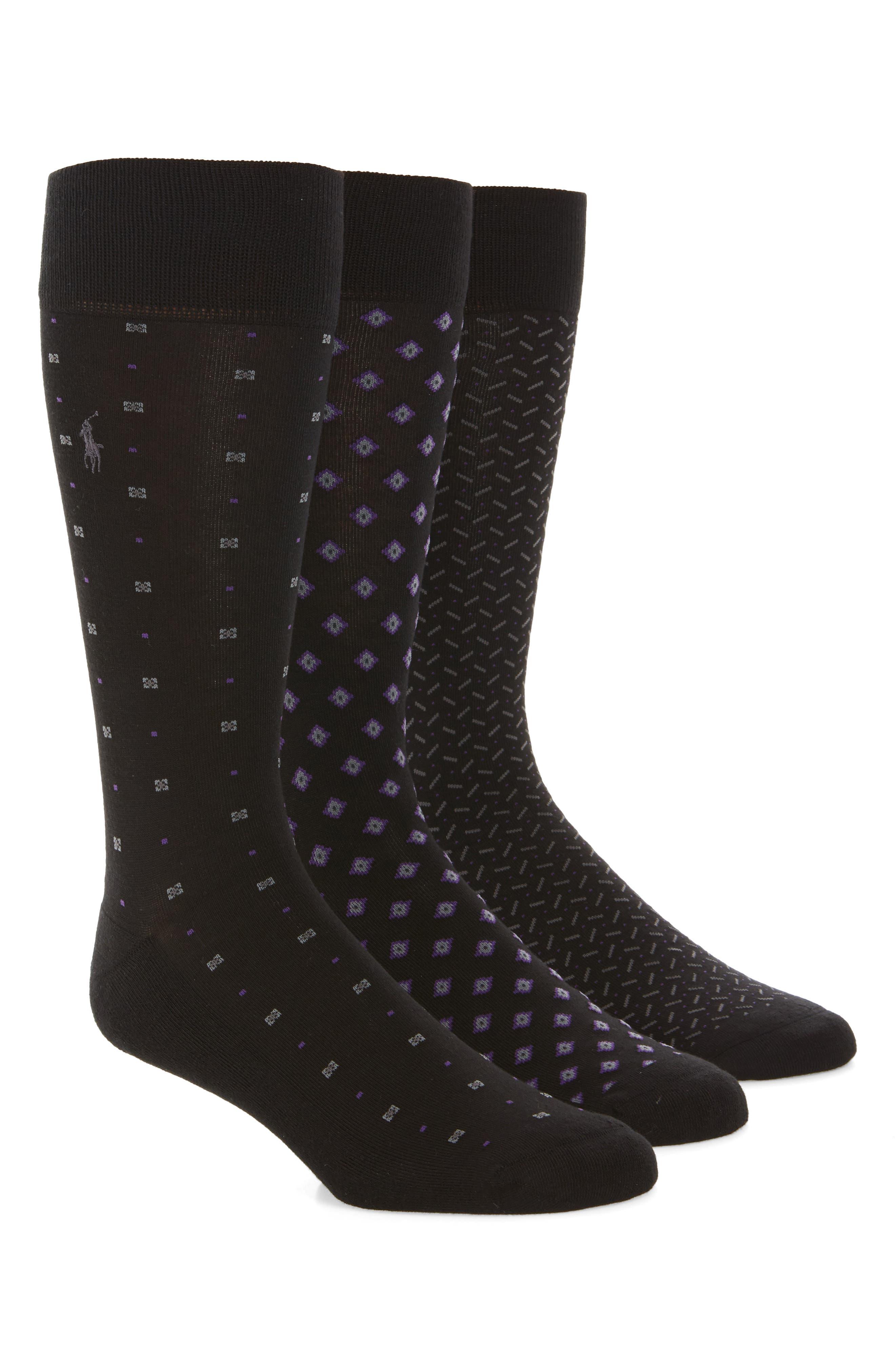 Main Image - Polo Ralph Lauren 3-Pack Performance Socks