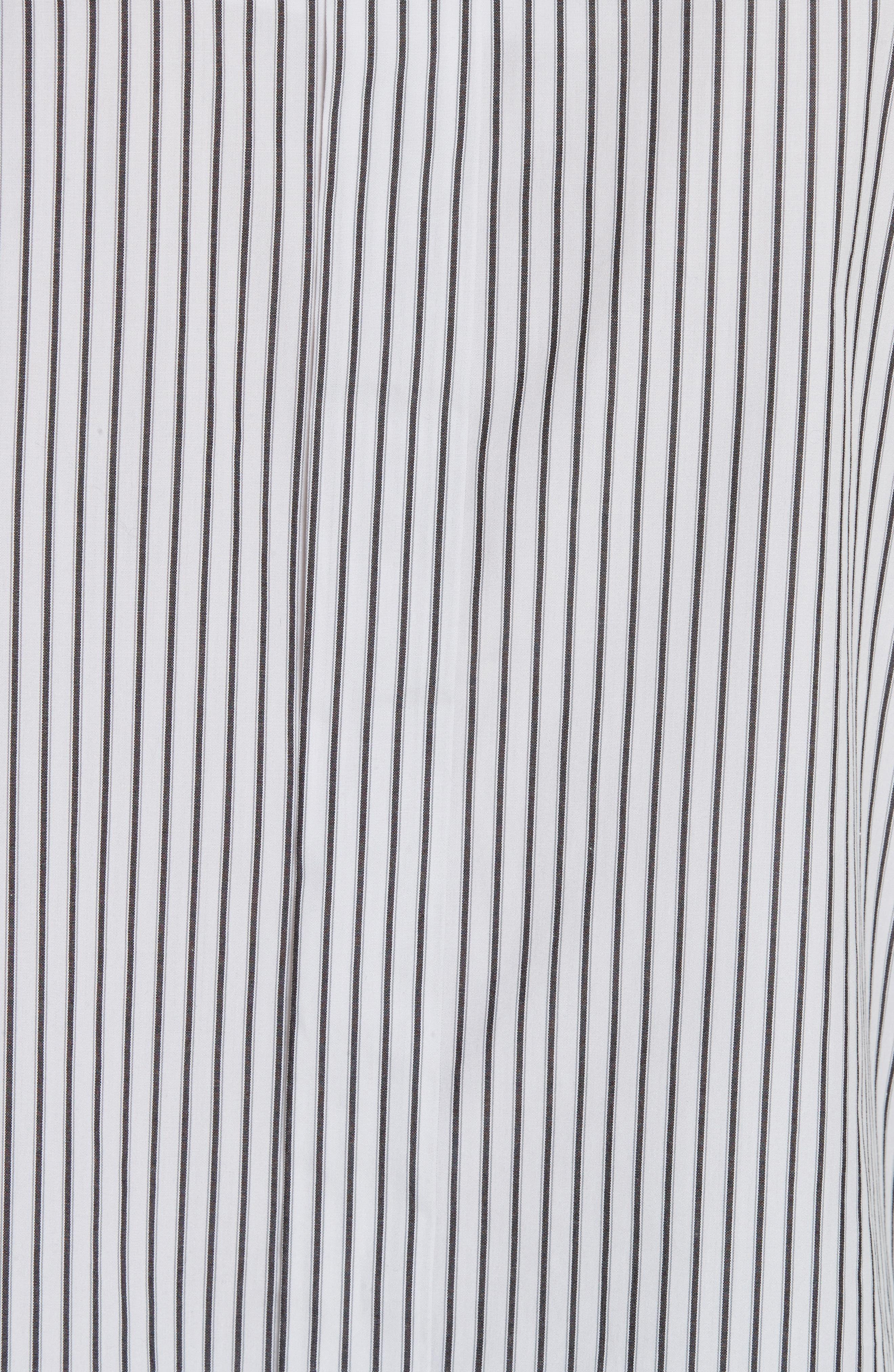 Grommet Scrunch Sleeve Shirt,                             Alternate thumbnail 5, color,                             Blue/ White