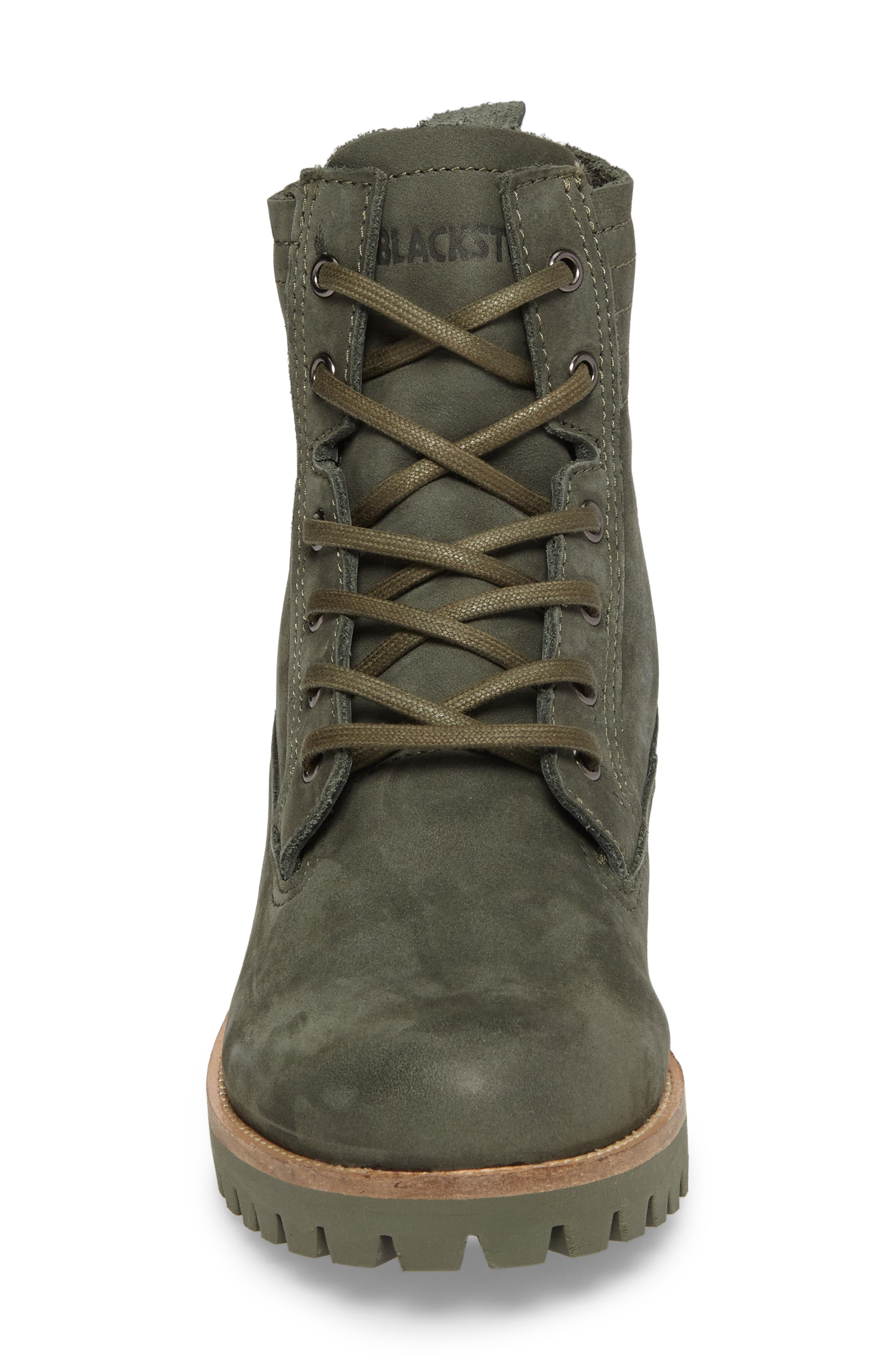 OL23 Lace-Up Boot,                             Alternate thumbnail 4, color,                             Dark Green Nubuck