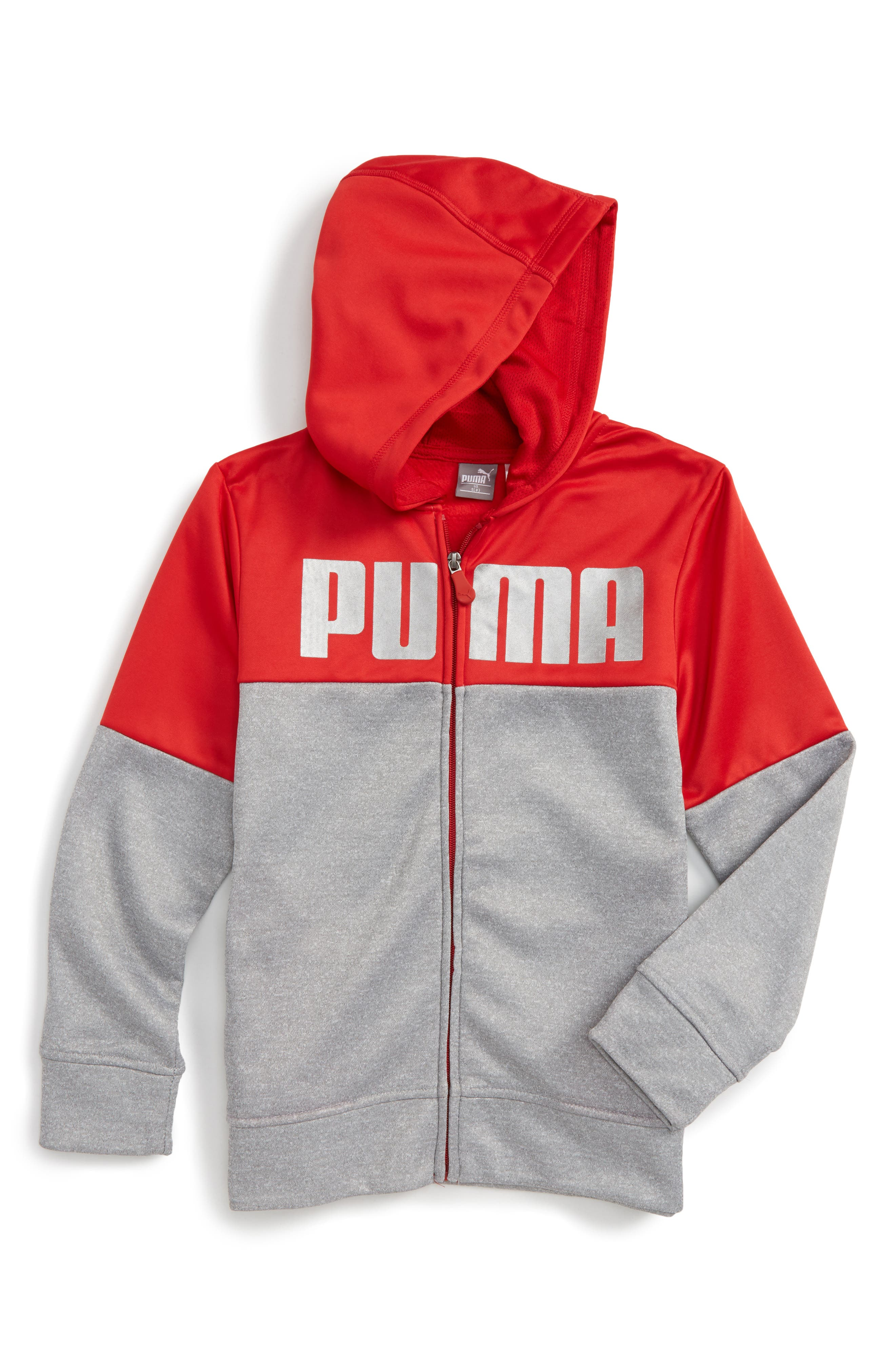 Logo Graphic Hoodie,                             Main thumbnail 1, color,                             Light Heather Grey