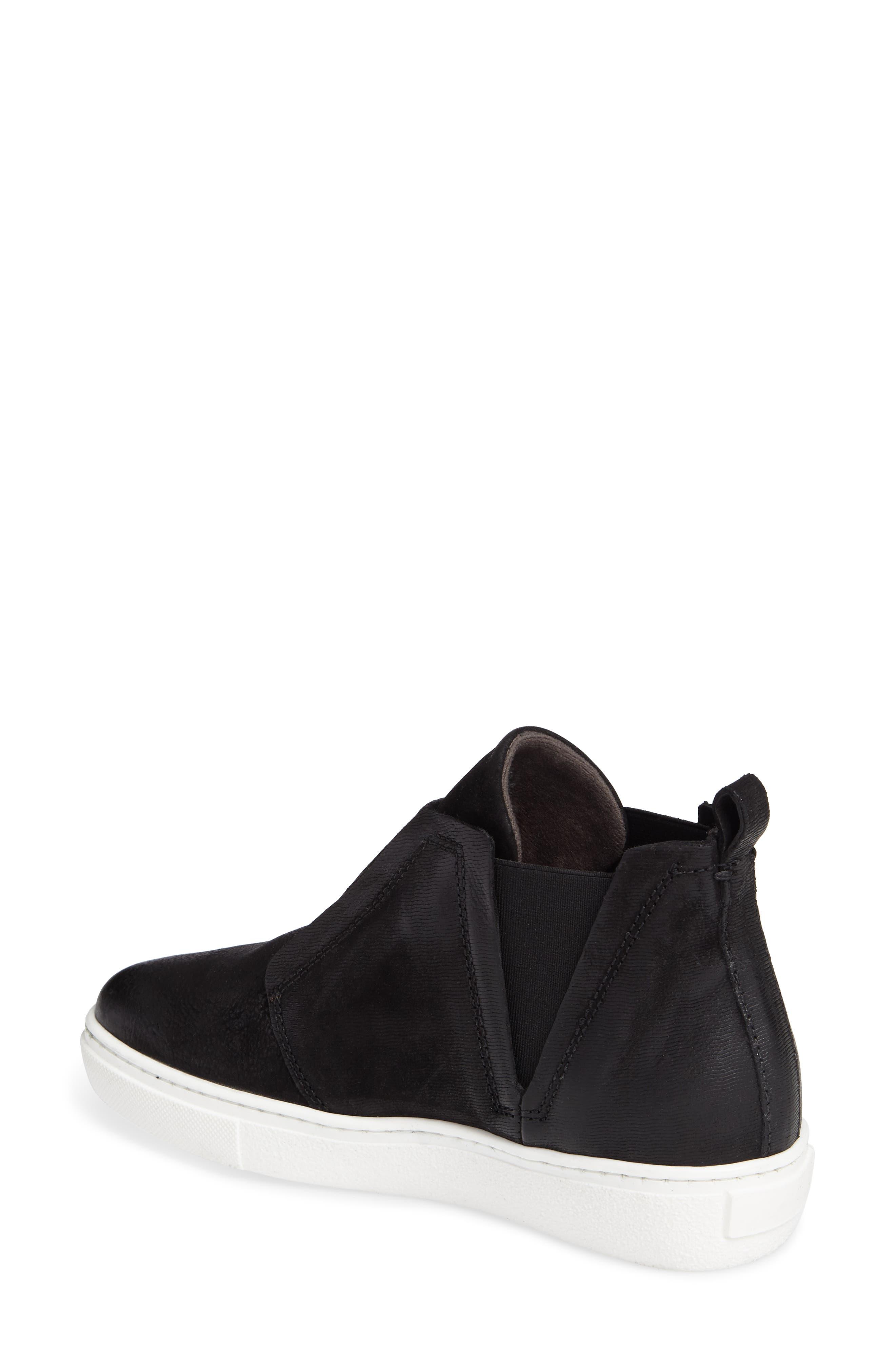 Laurent High Top Sneaker,                             Alternate thumbnail 2, color,                             Black