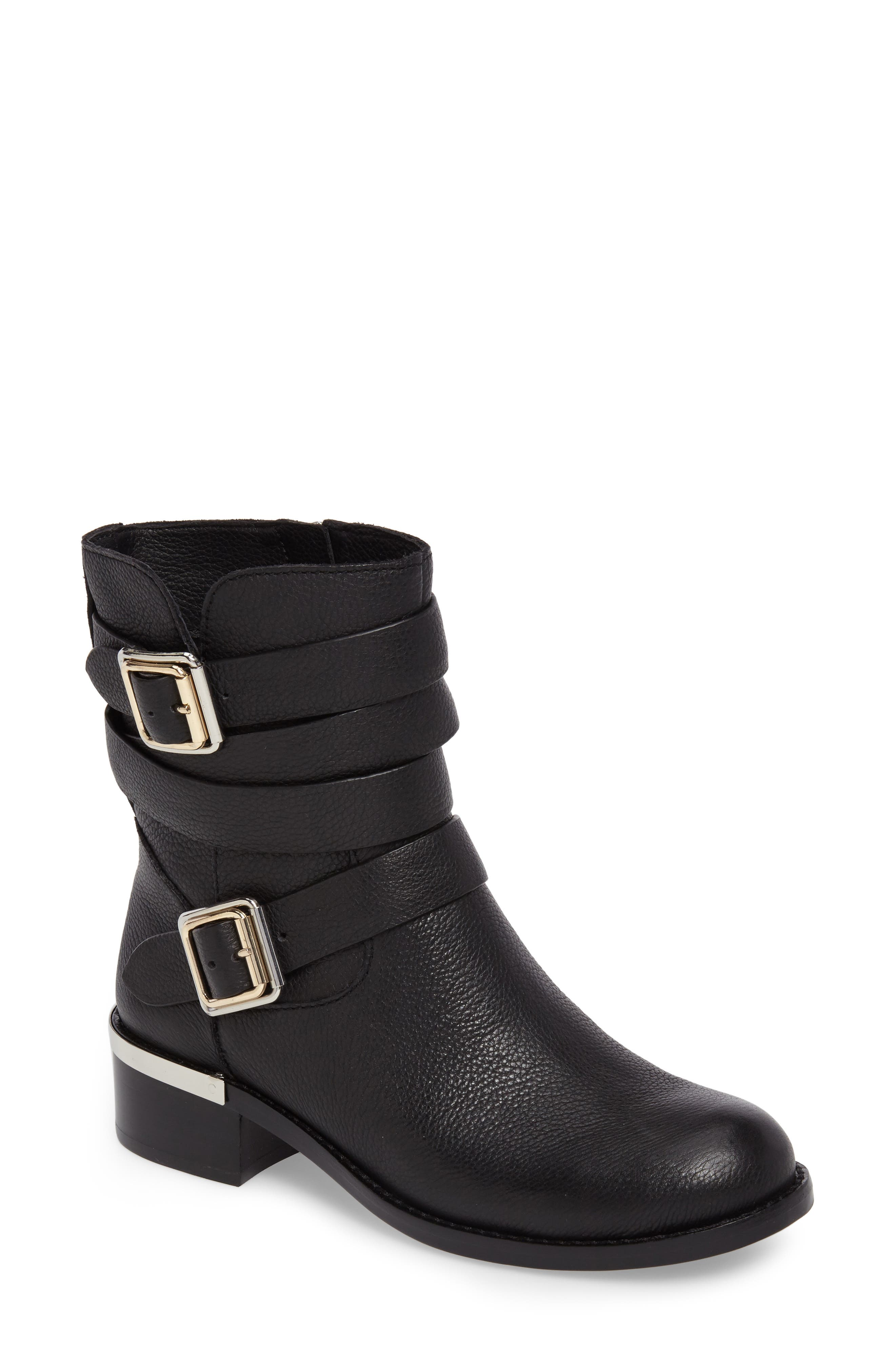 Webey Boot,                             Main thumbnail 1, color,                             Black Leather