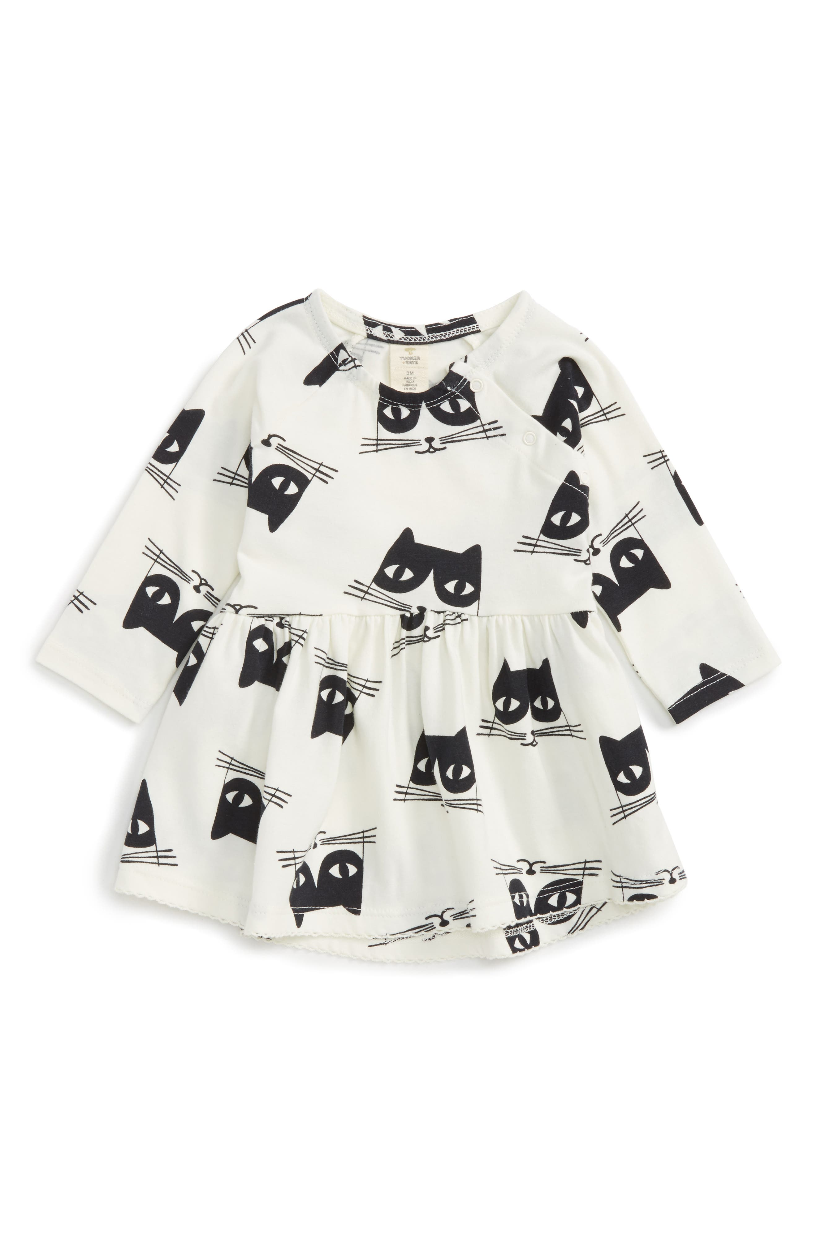 Alternate Image 1 Selected - Tucker + Tate Cat Print Dress (Baby Girls)