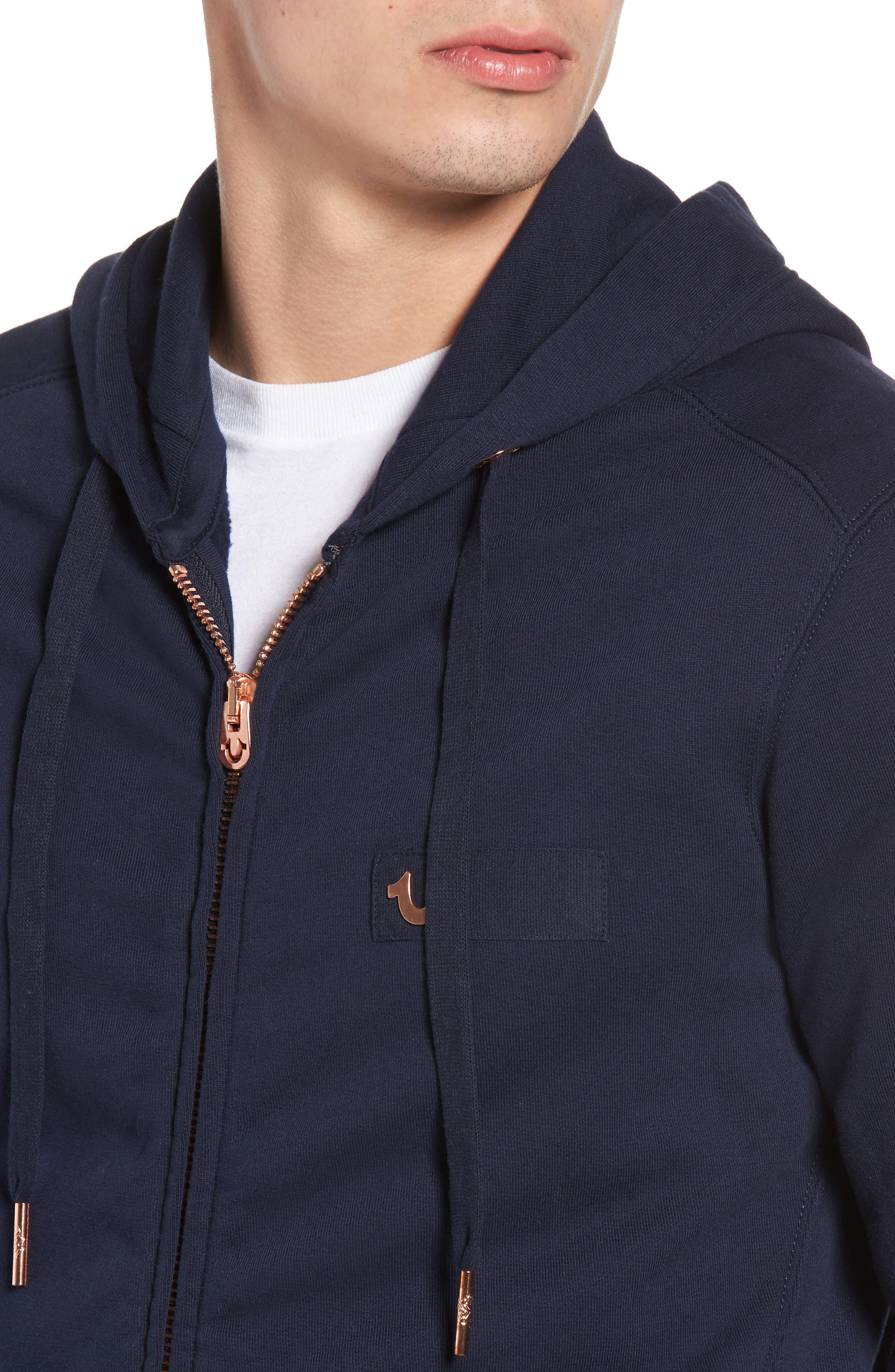 Alternate Image 4  - True Religion Brand Jeans Metal Horseshoe Hoodie