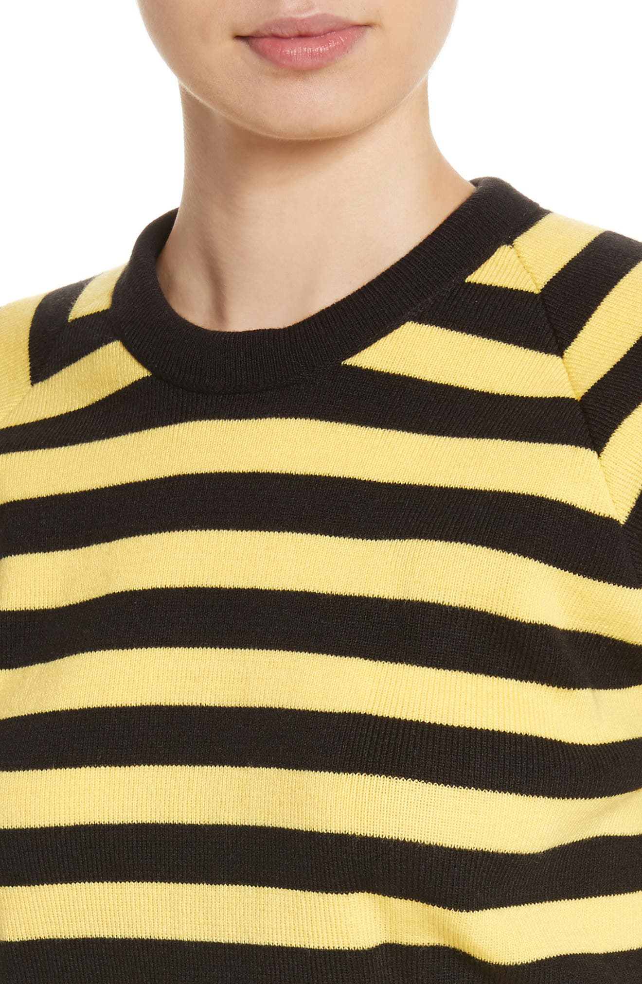 Bumblebee Stripe Sweater,                             Alternate thumbnail 4, color,                             Black Yellow