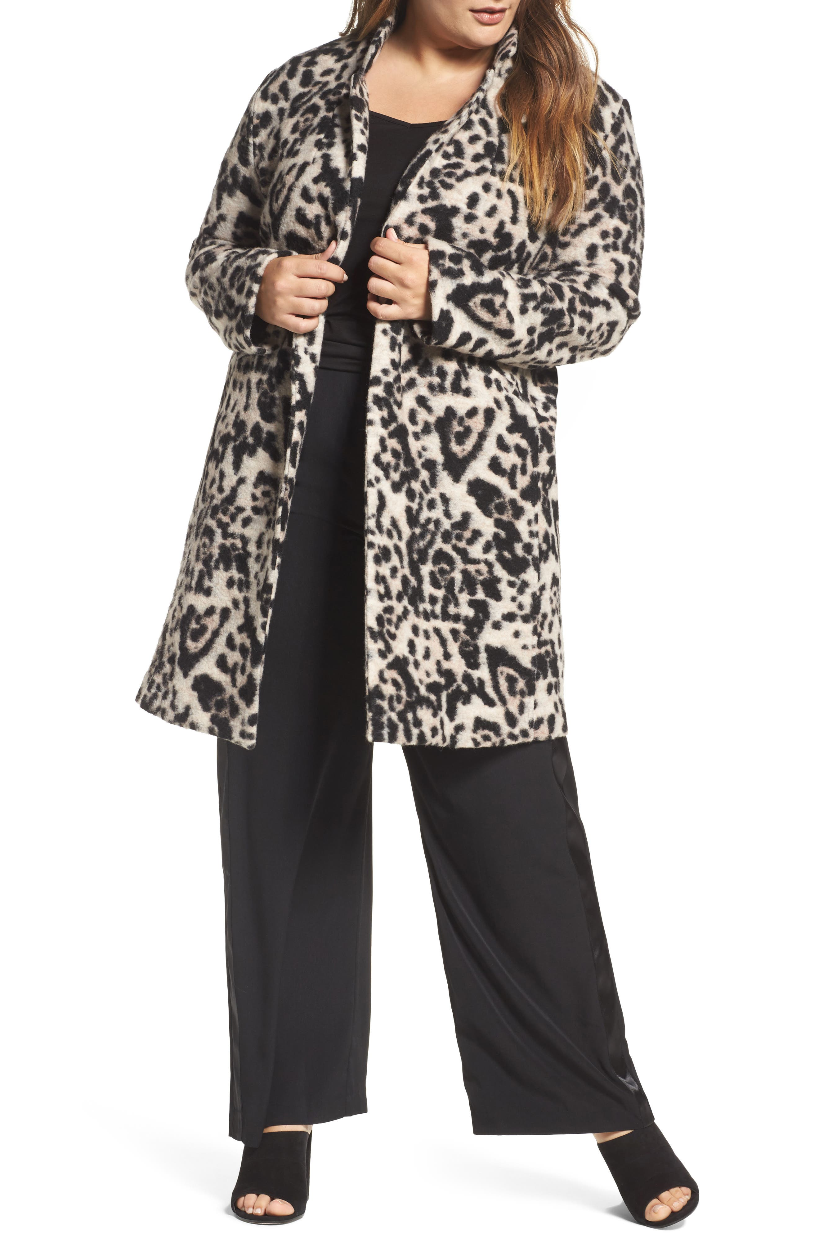 ELVI Leopard Print Topper (Plus Size)