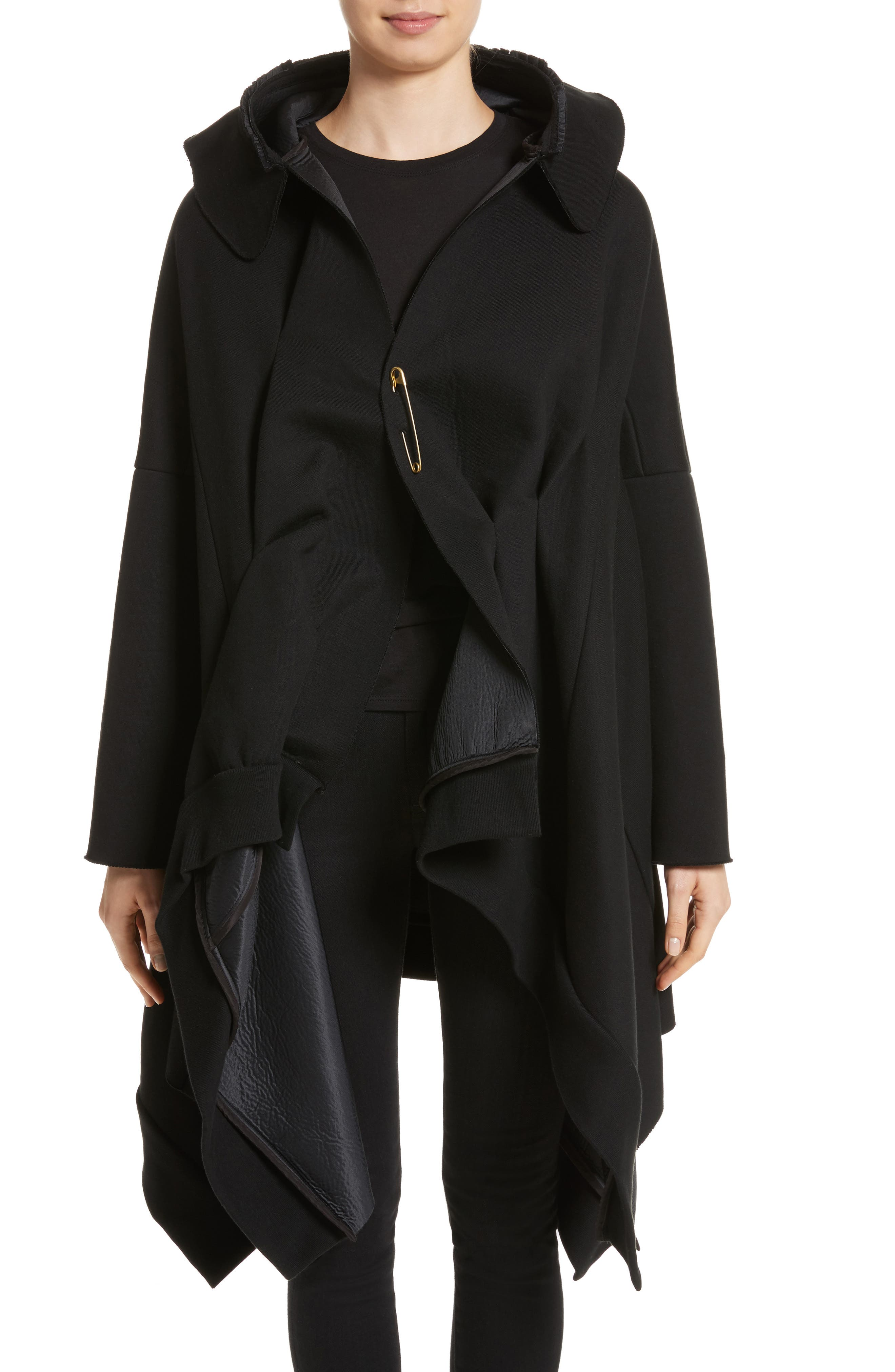 Hooded Coat,                             Main thumbnail 1, color,                             Black