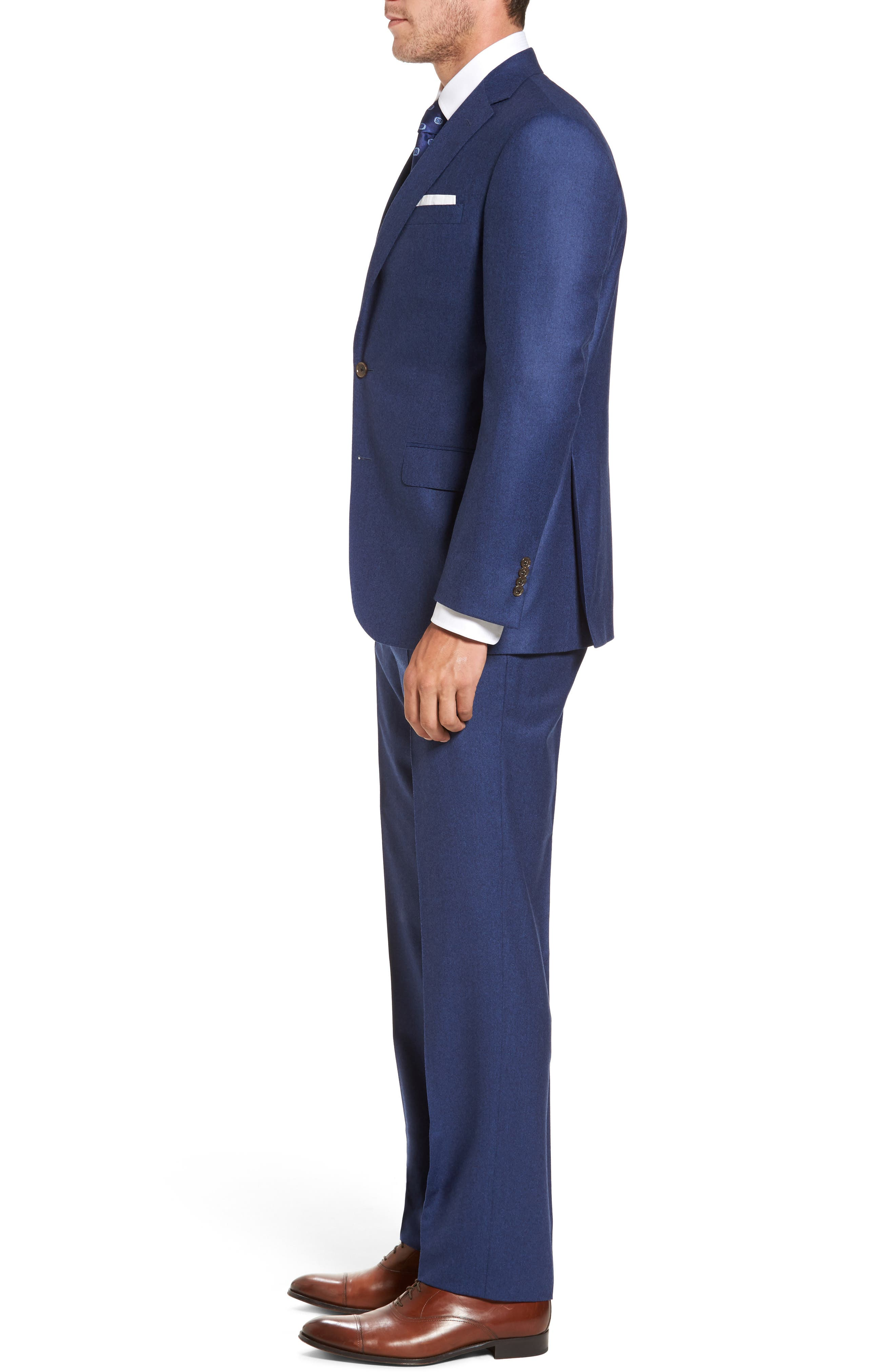 Ryan Classic Fit Solid Wool Suit,                             Alternate thumbnail 3, color,                             Blue