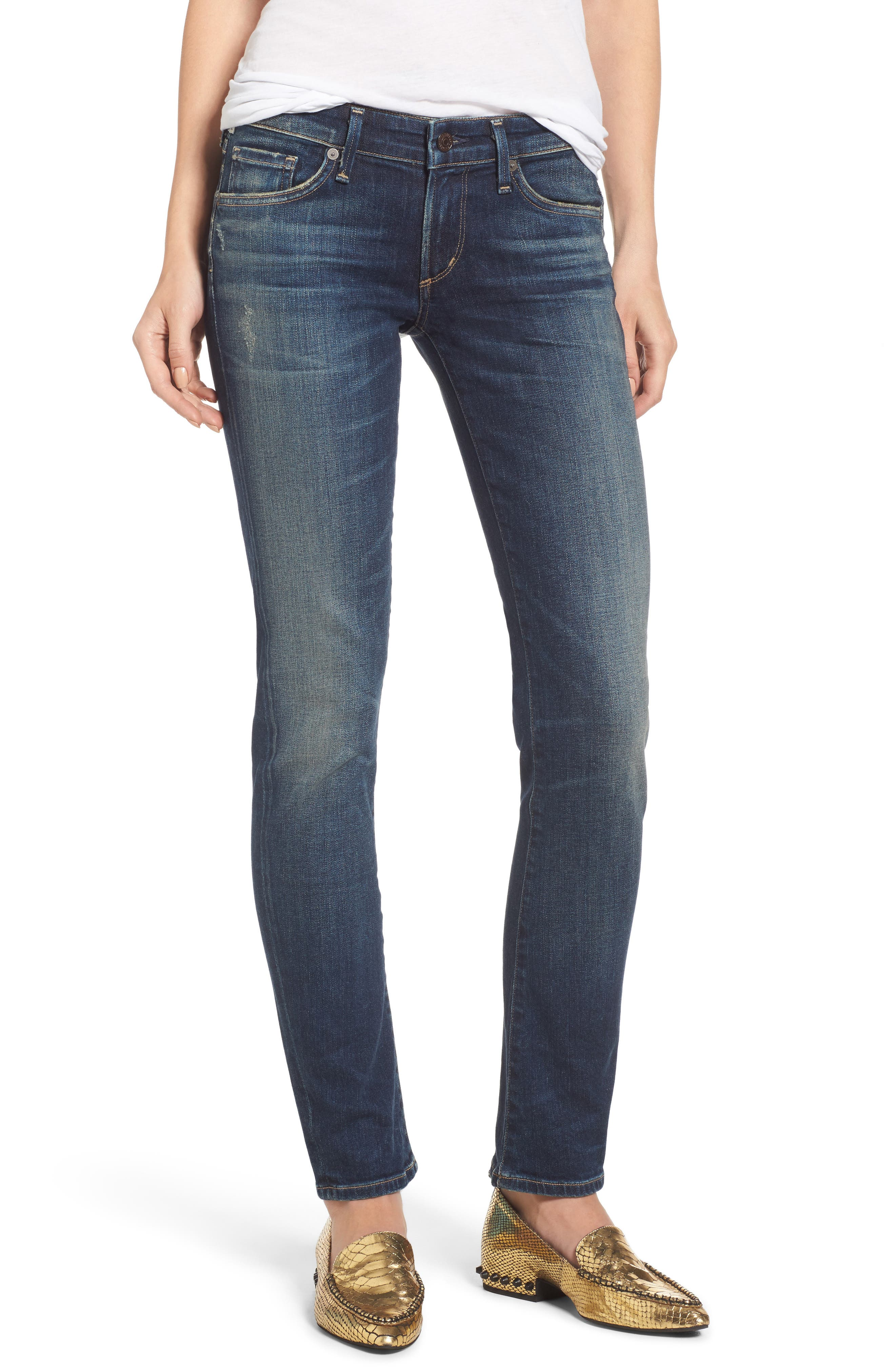 Racer Whiskered Skinny Jeans,                         Main,                         color, Harvest Moon