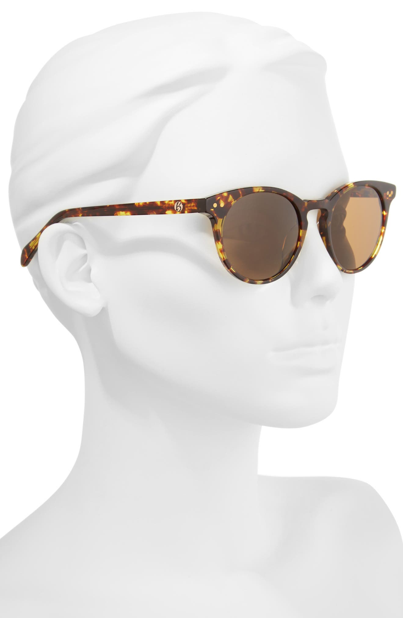 Oxford 49mm Sunglasses,                             Alternate thumbnail 2, color,                             Classic Tortoise/ Brown