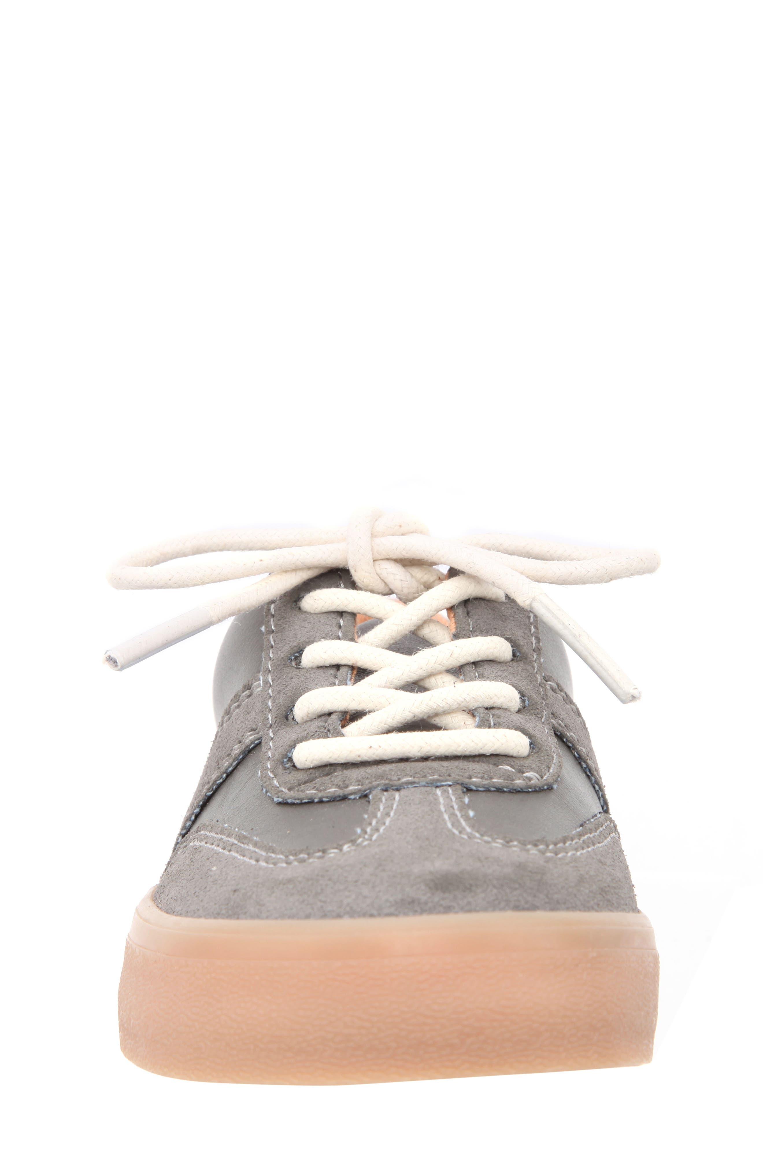 Neal Low Top Sneaker,                             Alternate thumbnail 4, color,                             Grey Suede