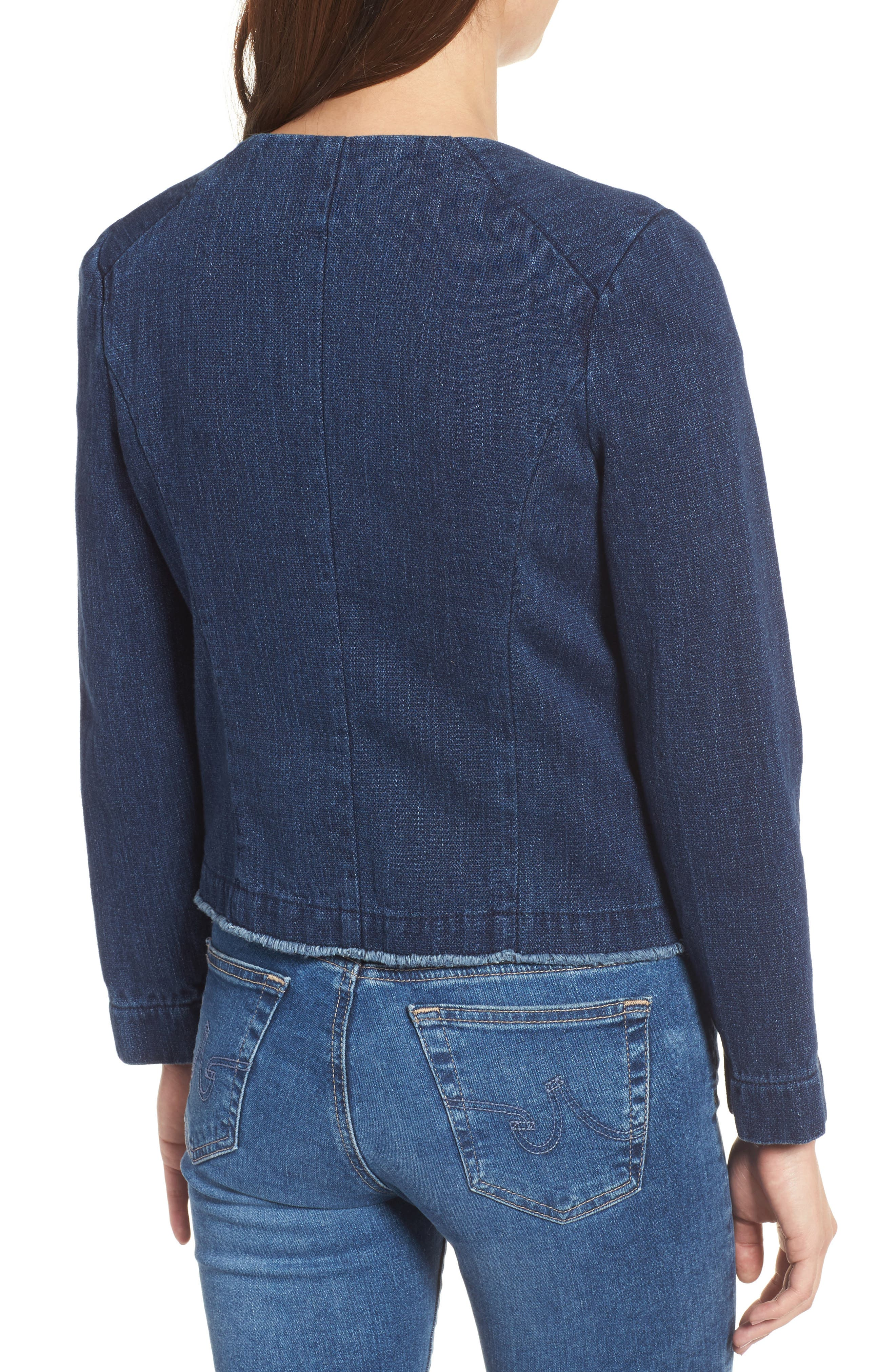 Denim Jacket,                             Alternate thumbnail 2, color,                             Anchor Blue