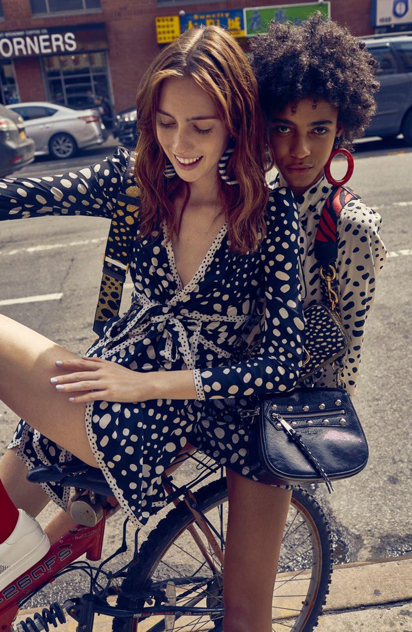 Alternate Image 2  - MARC JACOBS Polka Dot Ruffle Silk Wrap Dress
