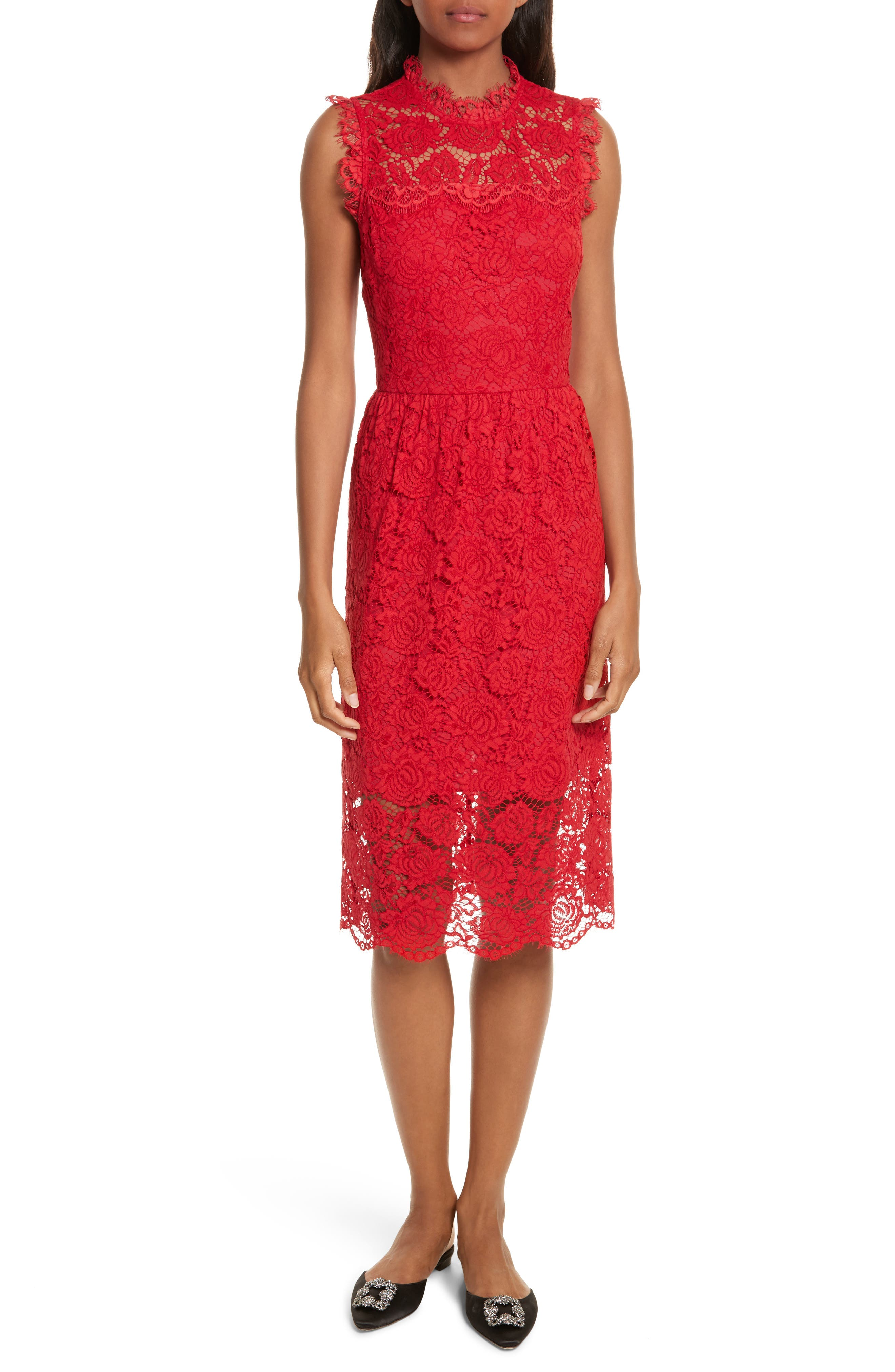 Alternate Image 1 Selected - kate spade poppy lace dress