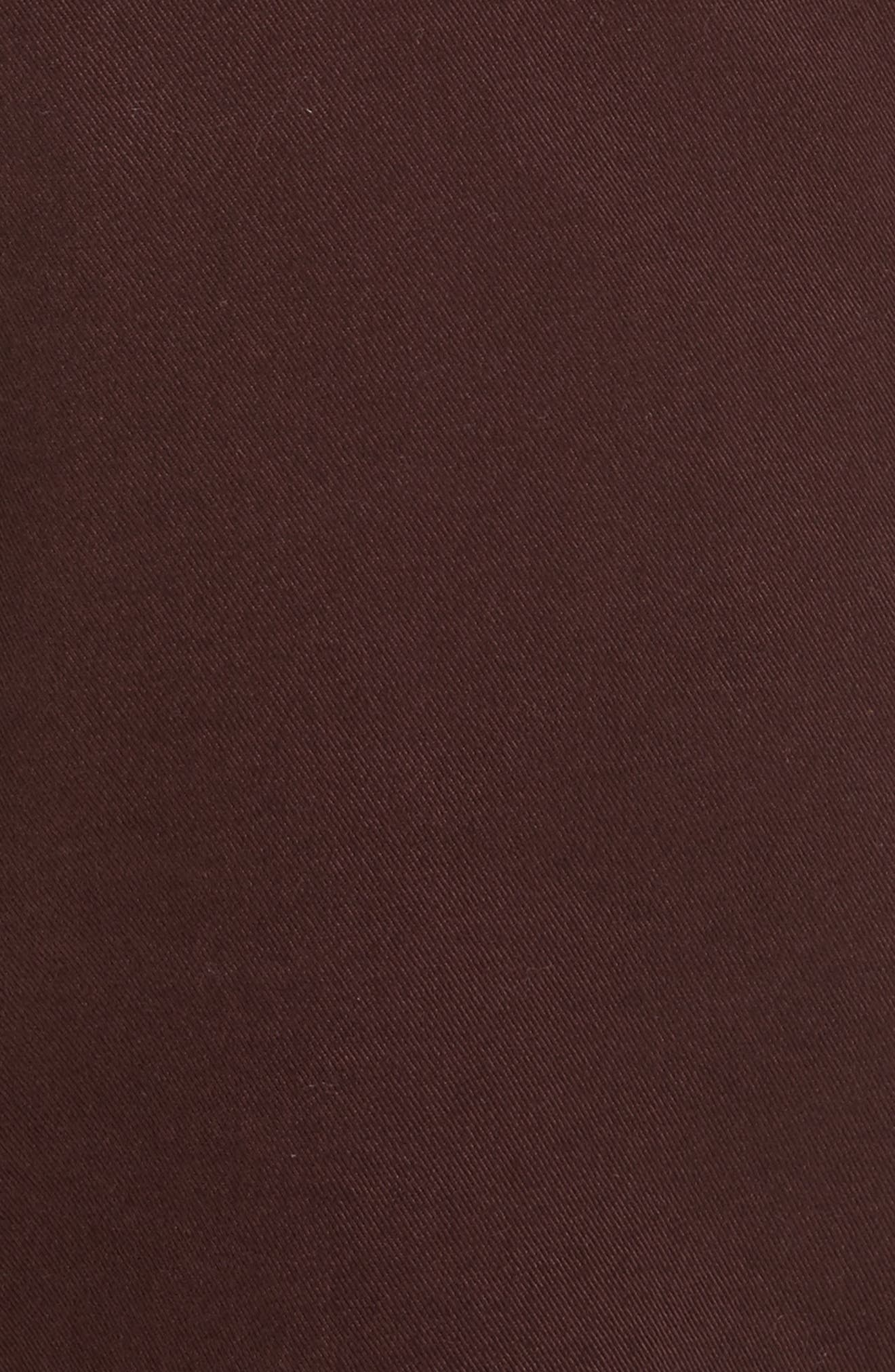 Aros Brushed Twill Chinos,                             Alternate thumbnail 5, color,                             Hematite Red