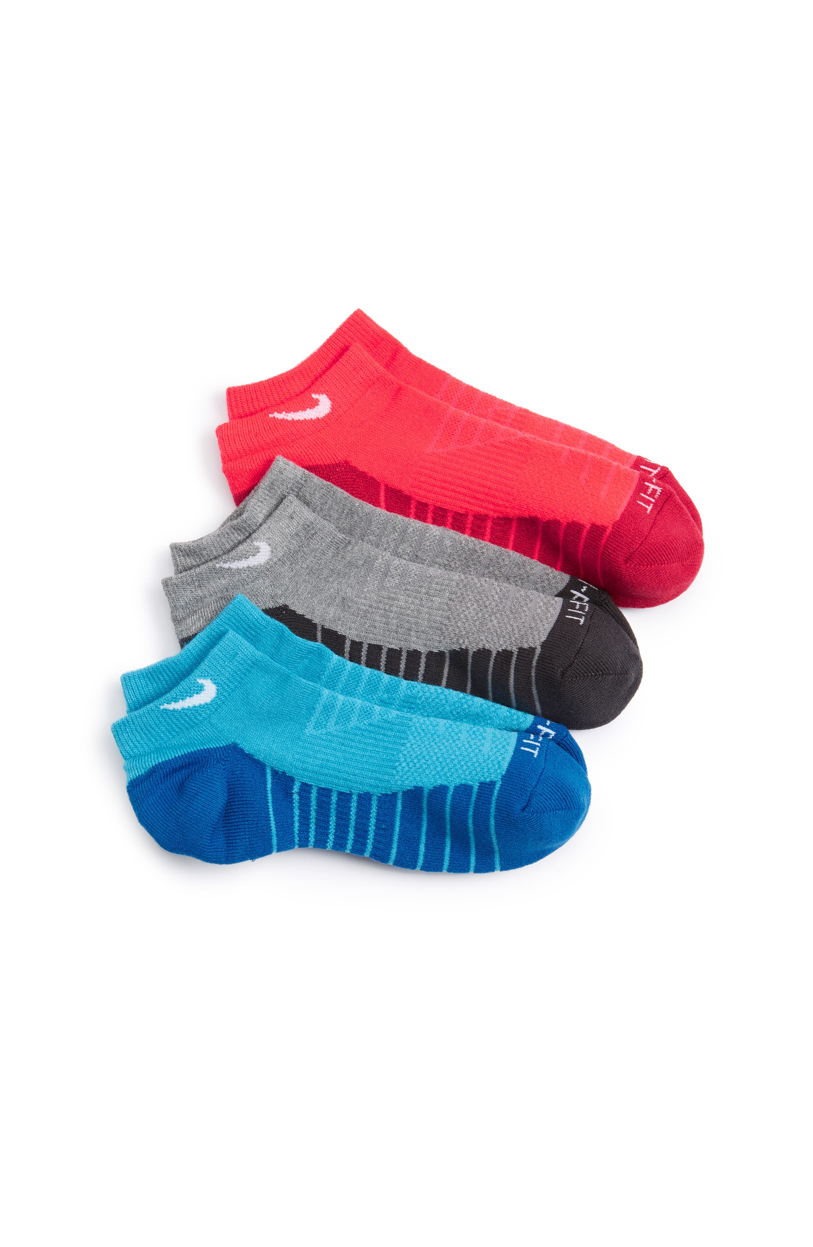 Nike 3-Pack Cushioned Dri-FIT No-Show Socks (Big Kid)