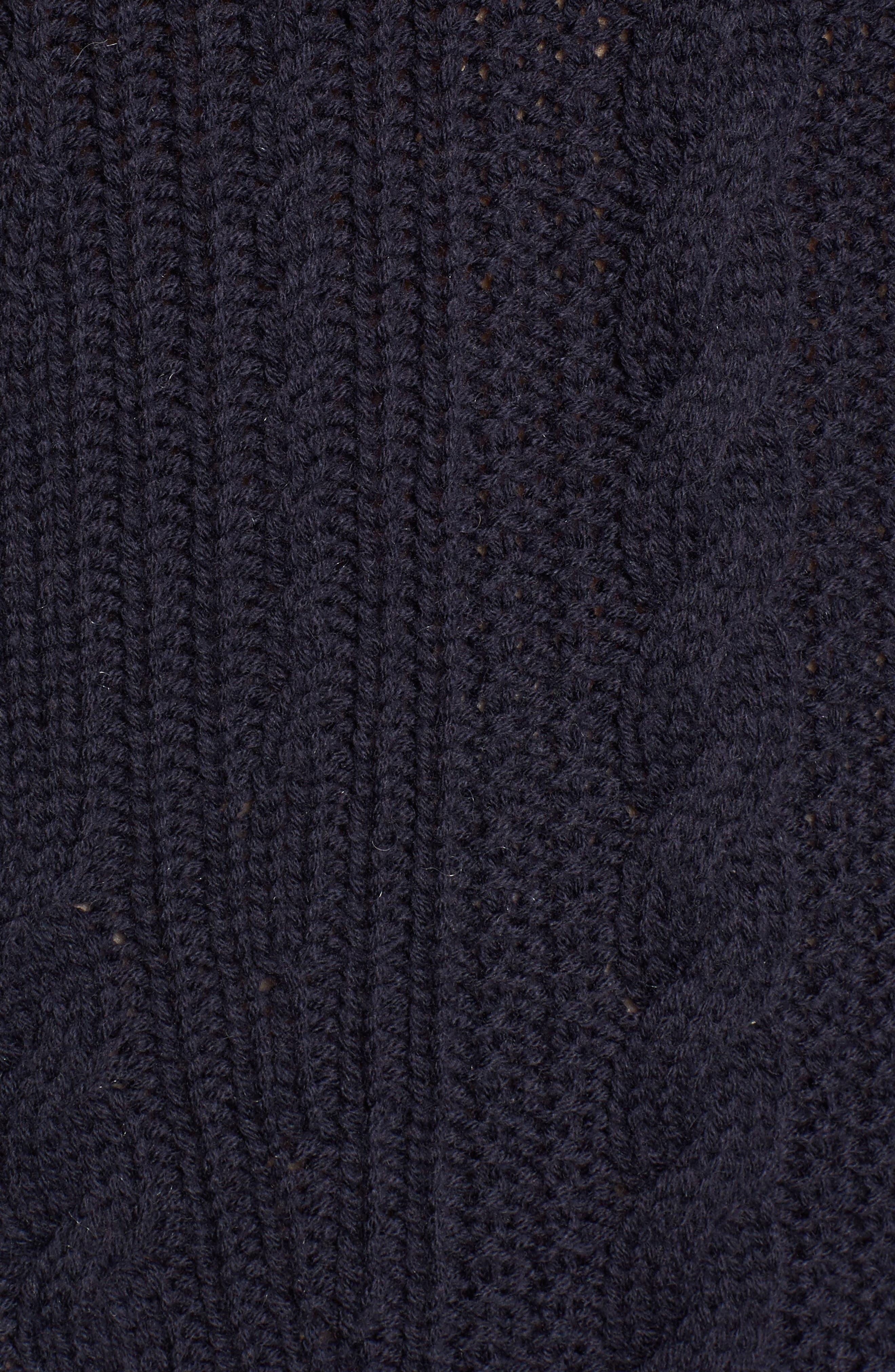 x Something Navy Sweater Dress,                             Alternate thumbnail 6, color,                             Navy Night