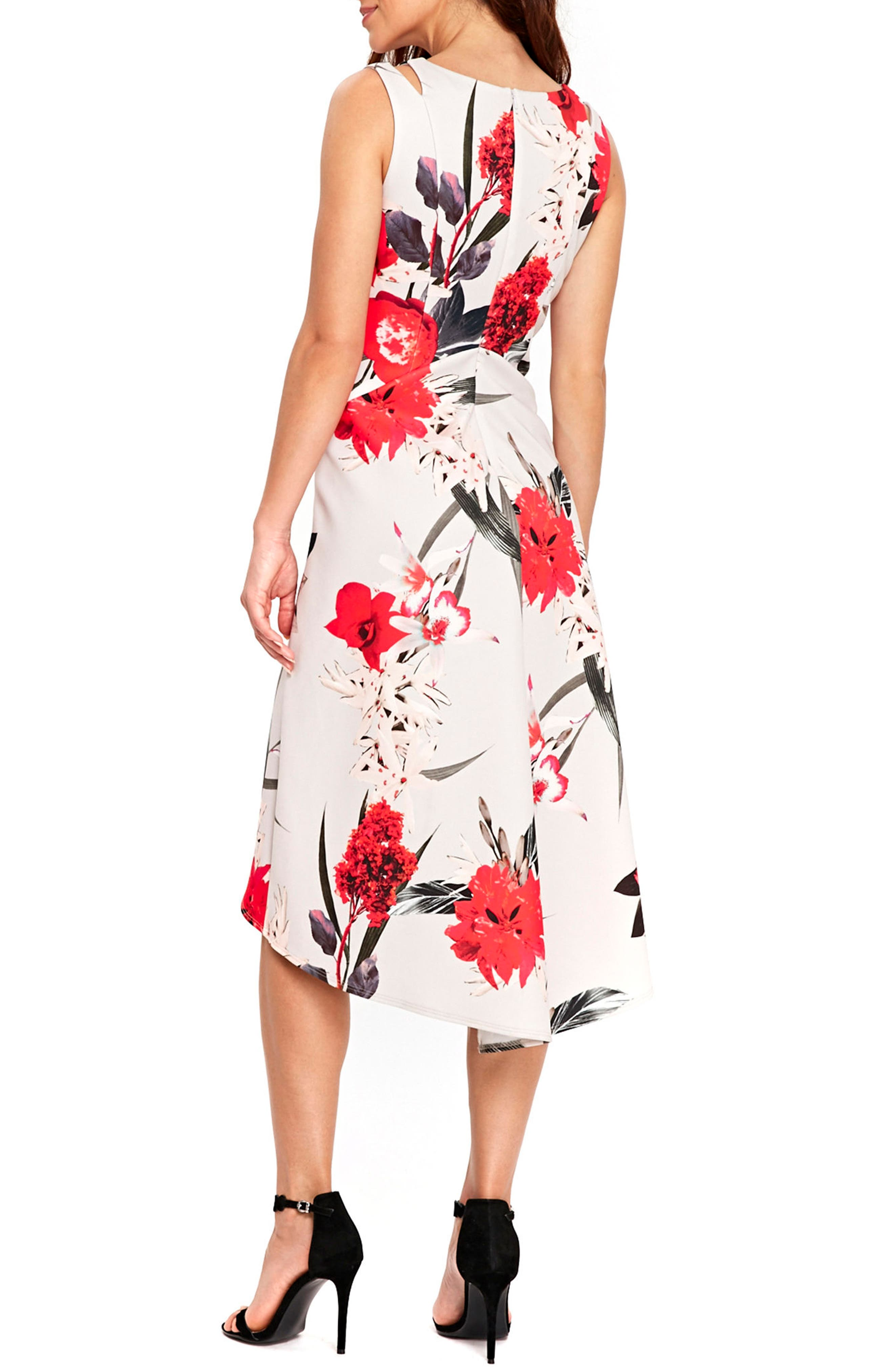 Alternate Image 3  - Wallis Sahara Bloom High/Low Dress