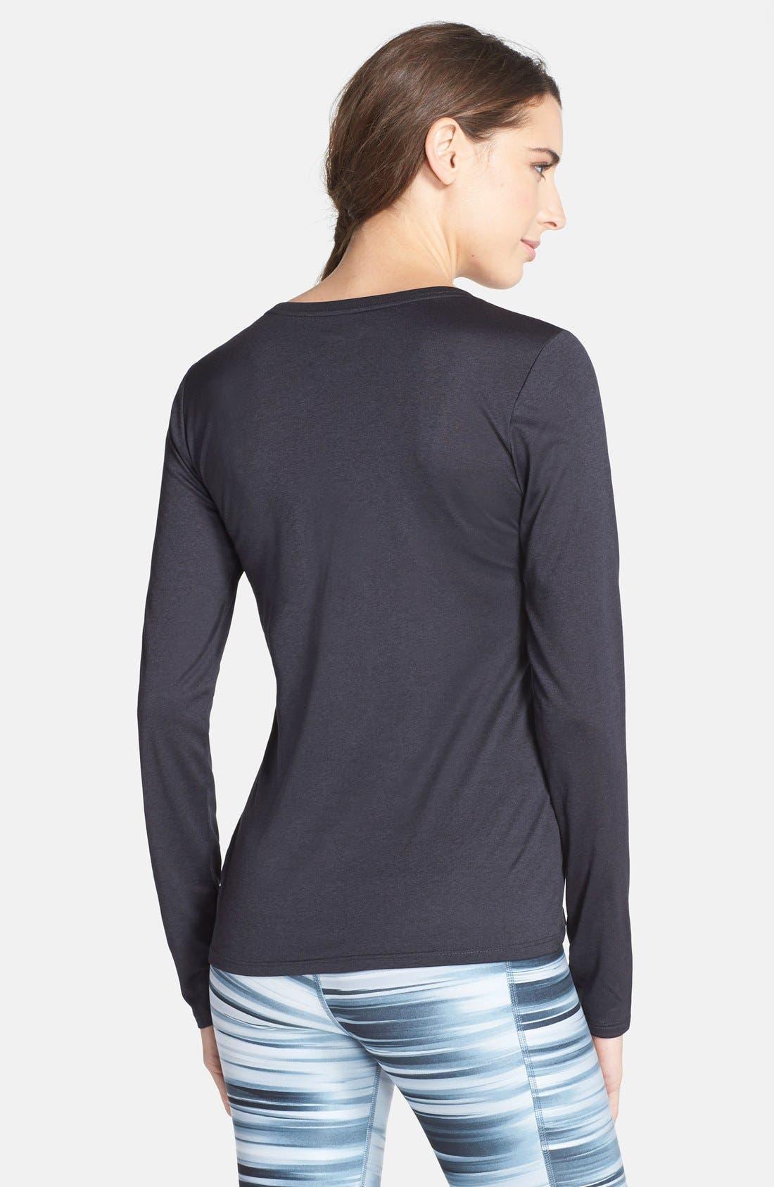Alternate Image 2  - Nike 'Legend' Dri-FIT V-Neck Long Sleeve Sport Top